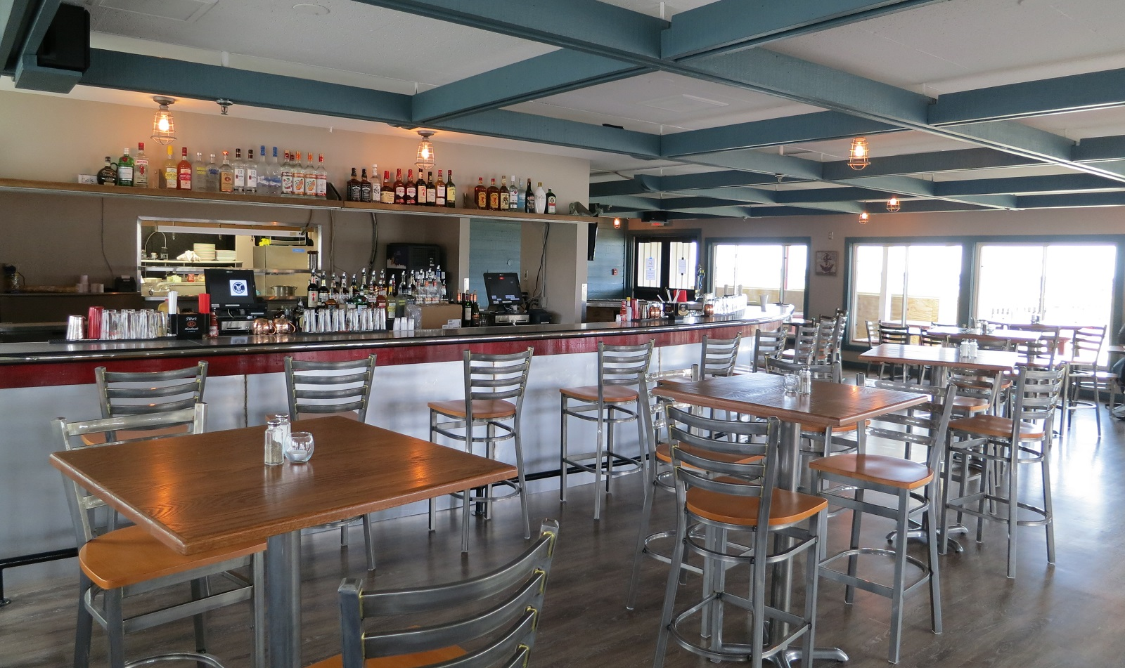 A look at tables and the bar area -- both renovated -- in the new Charlie's Boat Yard. (via Charlie's Boat Yard)