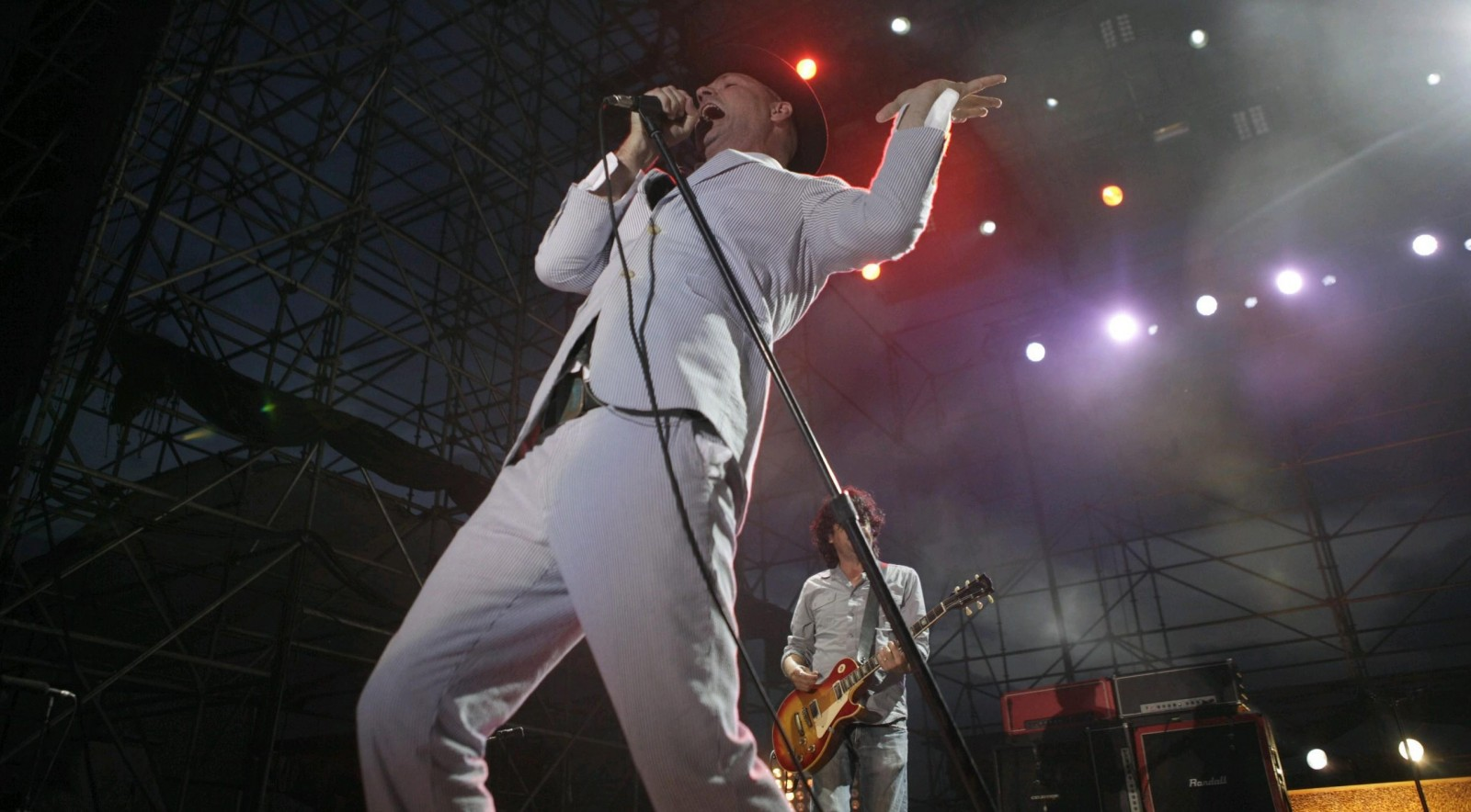 Gord Downie fronts Tragically Hip during the band's iconic Outer Harbor show in 2013. (Matthew Masin/Buffalo News file photo)