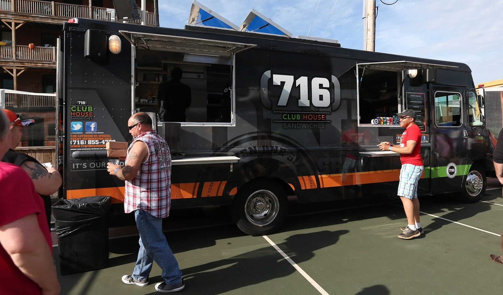 The (716) Club House food truck is an extension of (716) Food and Sport, the Pegulas' restaurant by the waterfront, inside HarborCenter. (Sharon Cantillon/Buffalo News)