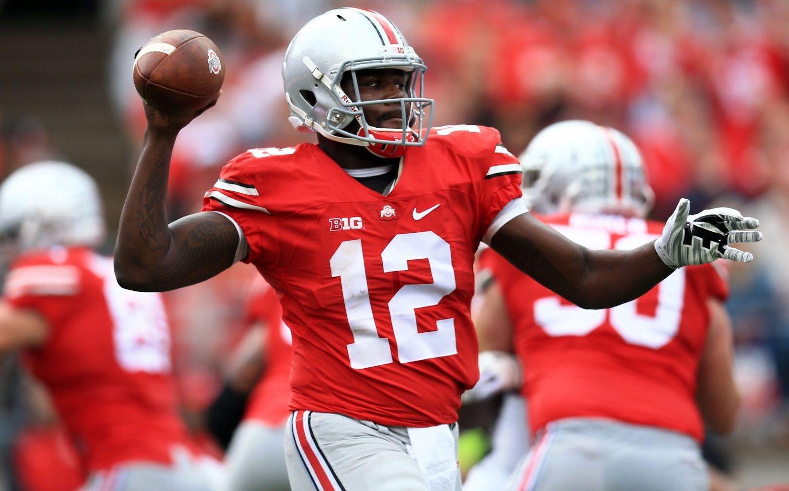 Ohio State quarterback Cardale Jones is a low-risk, high-reward pick for the Bills. (Andrew Weber/Getty Images)