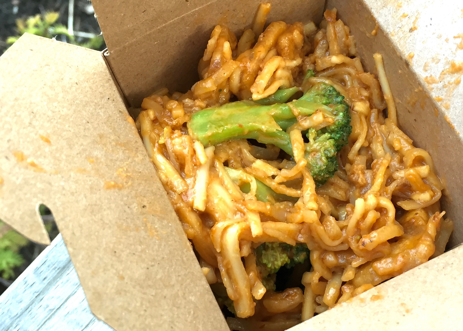 Spicy peanut butter noodles from Gourm-Asian Bistro, $8. (Alex Mikol/Special to The News)