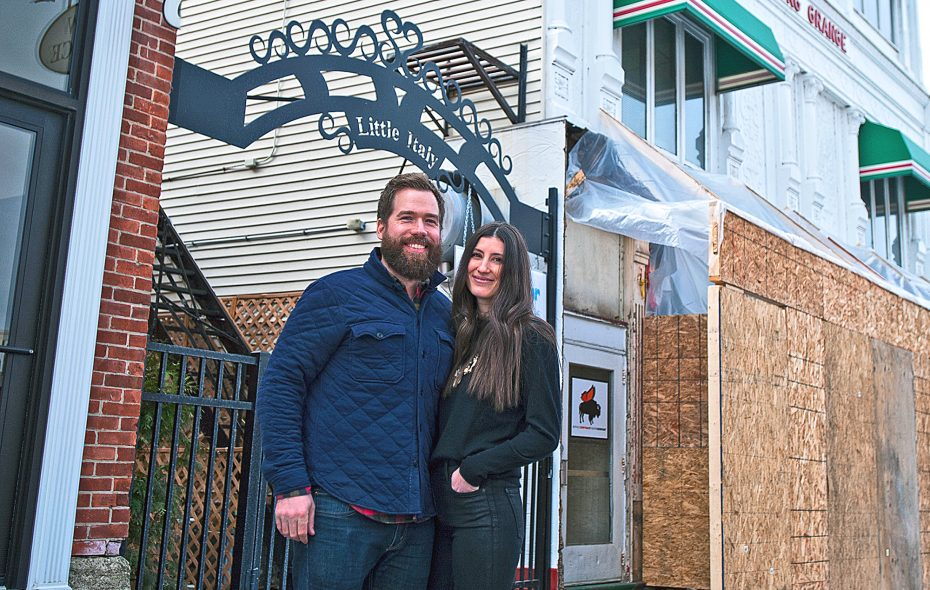 Brad and Caryn Rowell will open their anticipated new restaurant,  Grange Community Kitchen, in Hamburg this spring. (Michael P. Majewski)