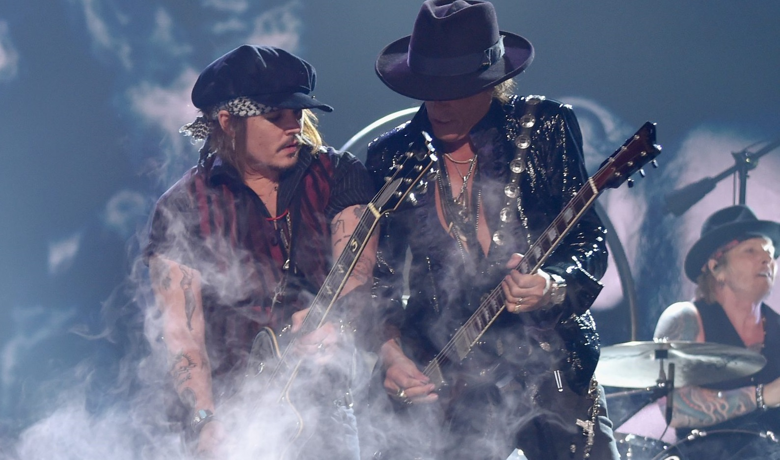 Actor-musician Johnny Depp and Joe Perry of Hollywood Vampires make Jeff Miers' top 10 Buffalo shows to see. (Getty Images)