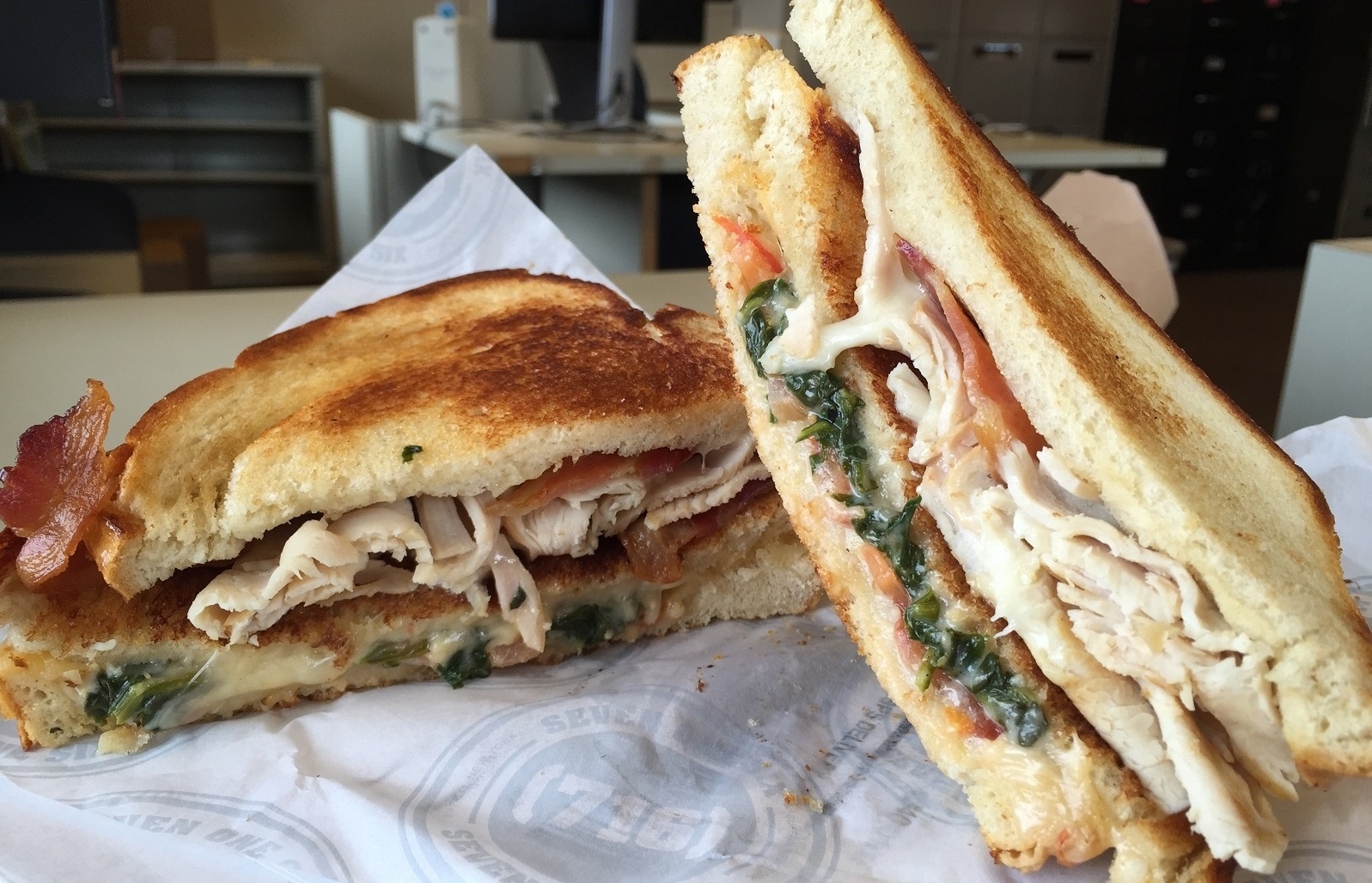 The Club House double melt, one of the truck's best-selling options. (Ben Tsujimoto/Buffalo News file photo)