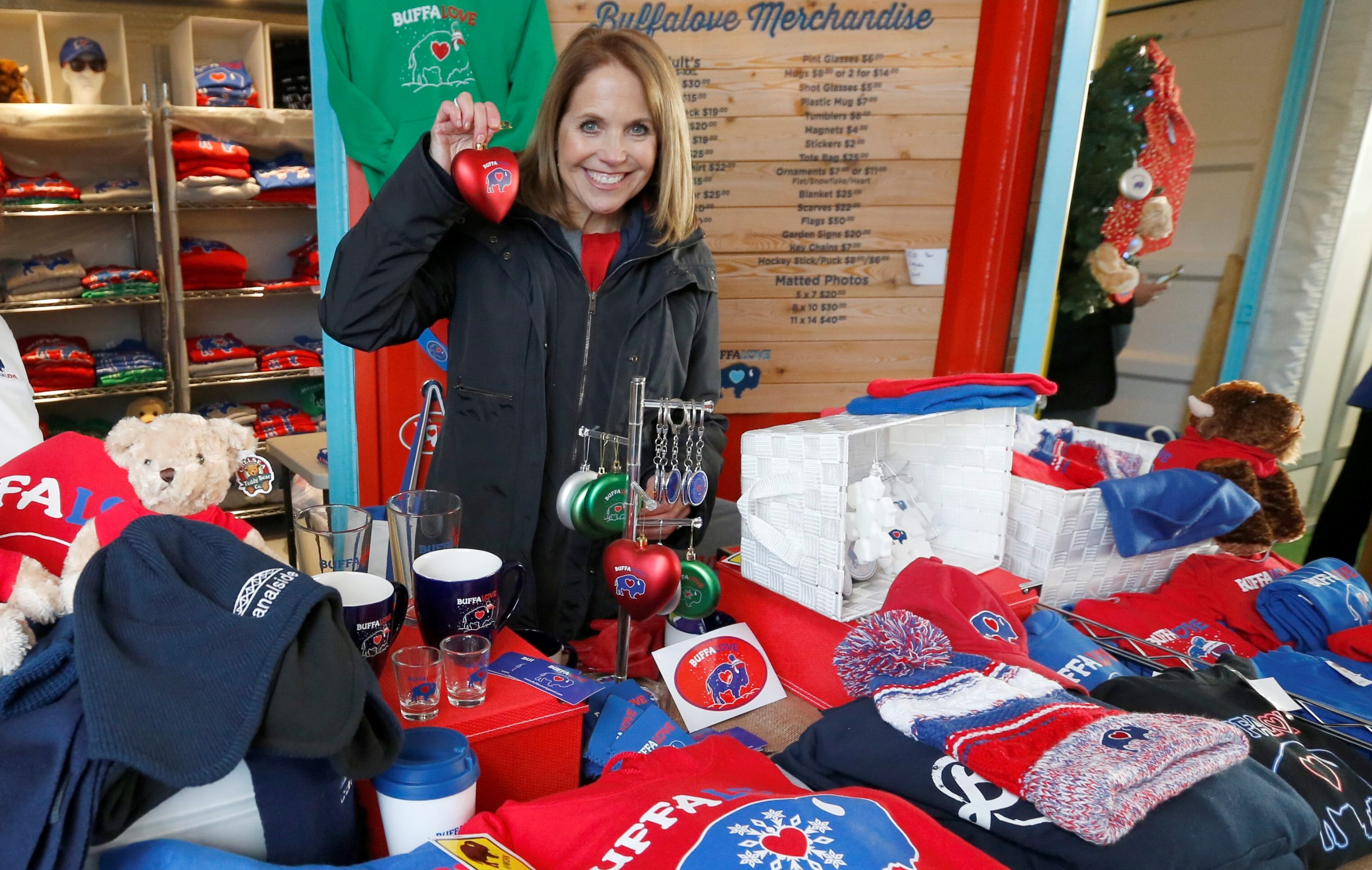 Katie Couric visited Canalside on Jan. 5, 2016. (Robert Kirkham/Buffalo News)