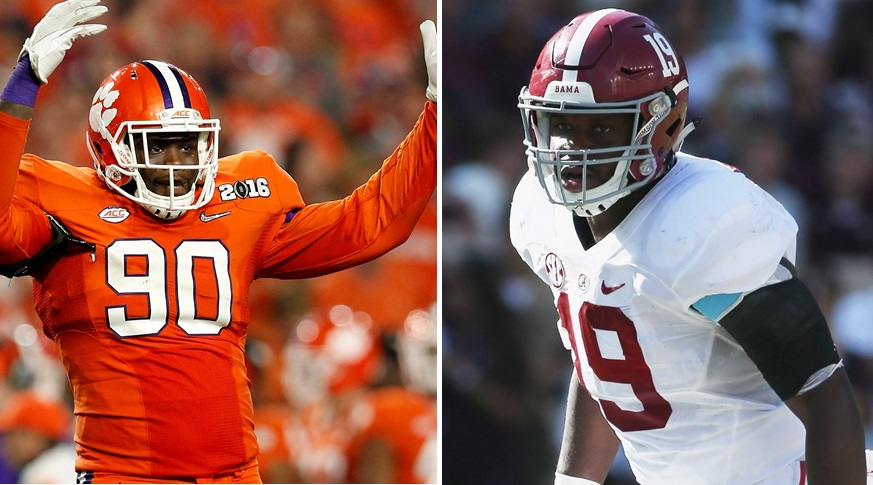 Shaq Lawson, left, and Reggie Ragland were the Bills' top two selections in the NFL Draft. (Getty Images)
