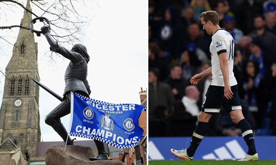 Leicester City FC clinched the English Premier League title with two games remaining after Tottenham drew Chelsea, 2-2, on Monday, May 2, 2016. (Getty Images)