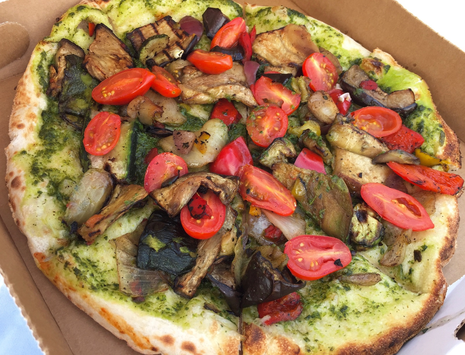 Versilia (vegan delight) pizza from Tuscan Wood Fired Pizza, $8. (Alex Mikol/Special to The News)