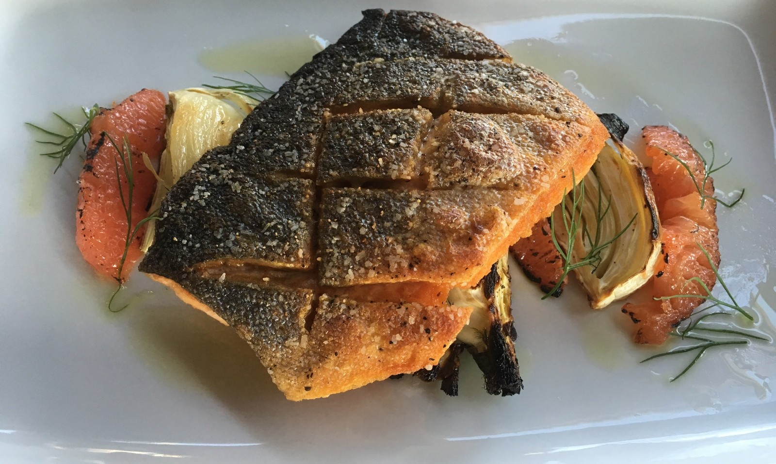 Arctic char with grilled fennel and grapefruit is on the opening menu at MidTown Kitchen. (Photo: Adrian Bylewski)