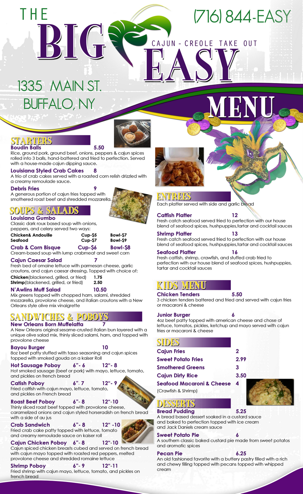 big easy menu small may 9 2016