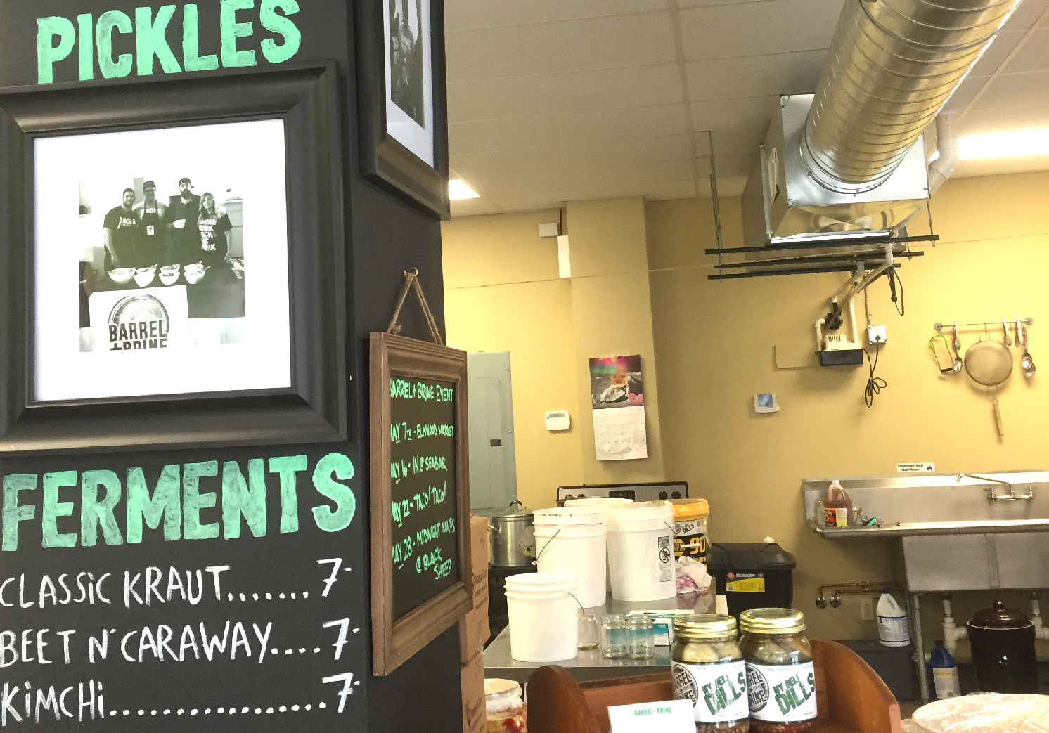 The little pickle factory at 257 Carolina St. has become a destination for fermented food fans. (Christa Glennie Seychew/Special to The News)