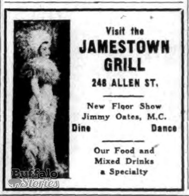 Jamestown Grill ad, 1937 (Buffalo Stories archives)