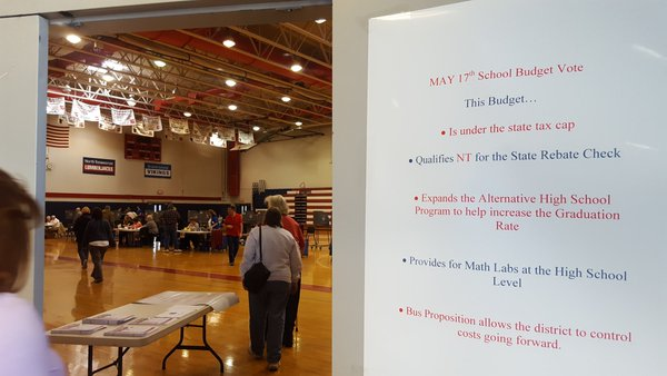 Voters in North Tonawanda are voting on adding in-house bus service.  (Michelle Kearns/Buffalo News)