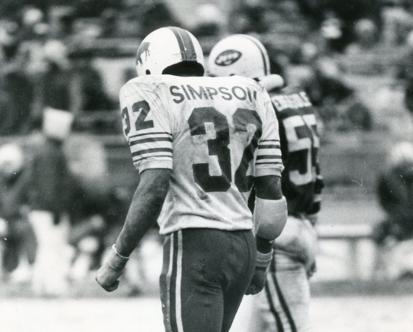O.J. Simpson's No. 32 has not been worn since he played. (Buffalo News file photo)