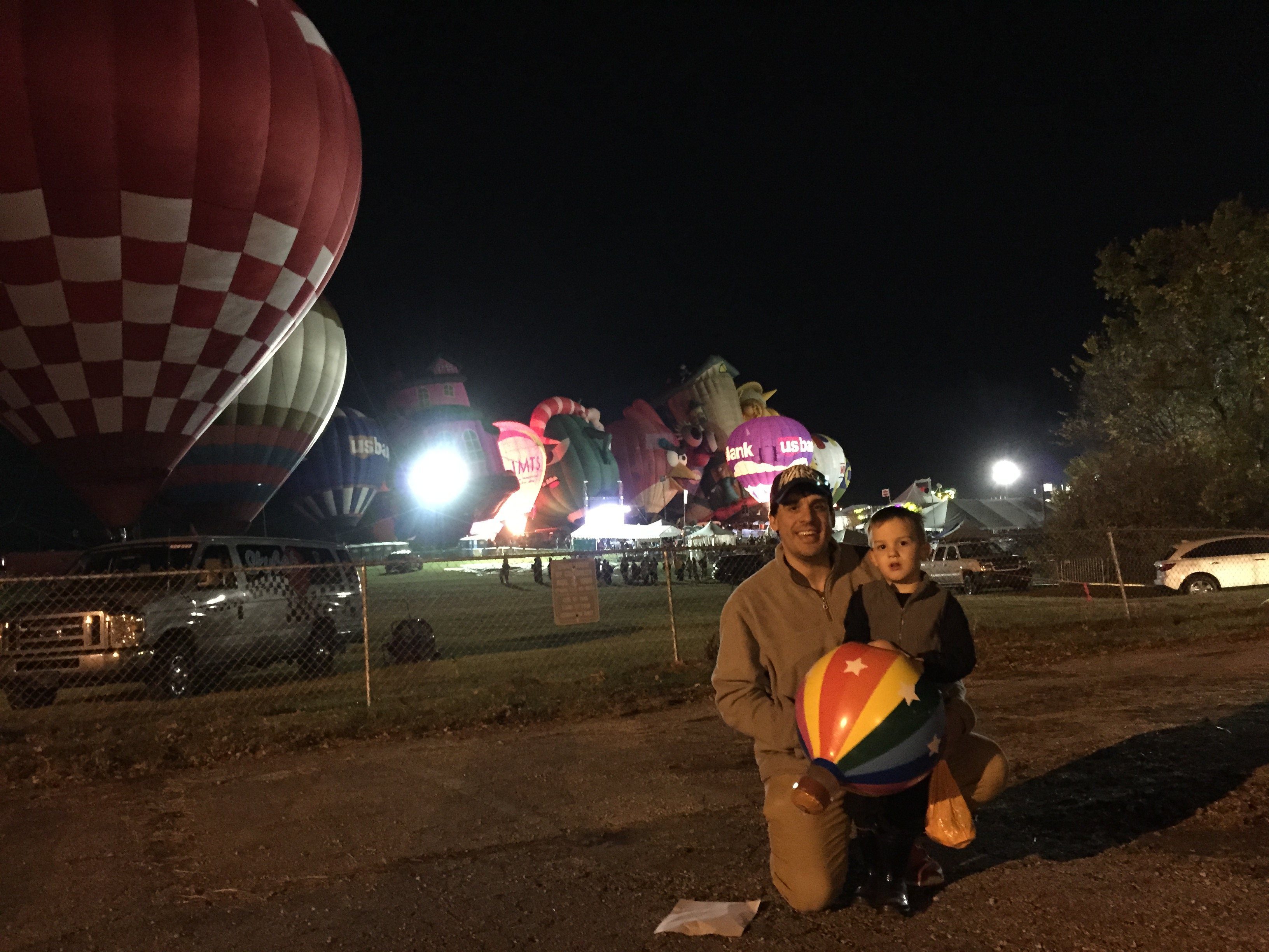 The Russos check out the Midwest Balloon Festival in their new home.