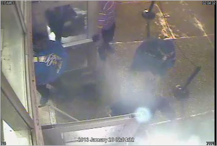 A screen grab from the security camera footage provided by Derrick T. Anderson's attorney.