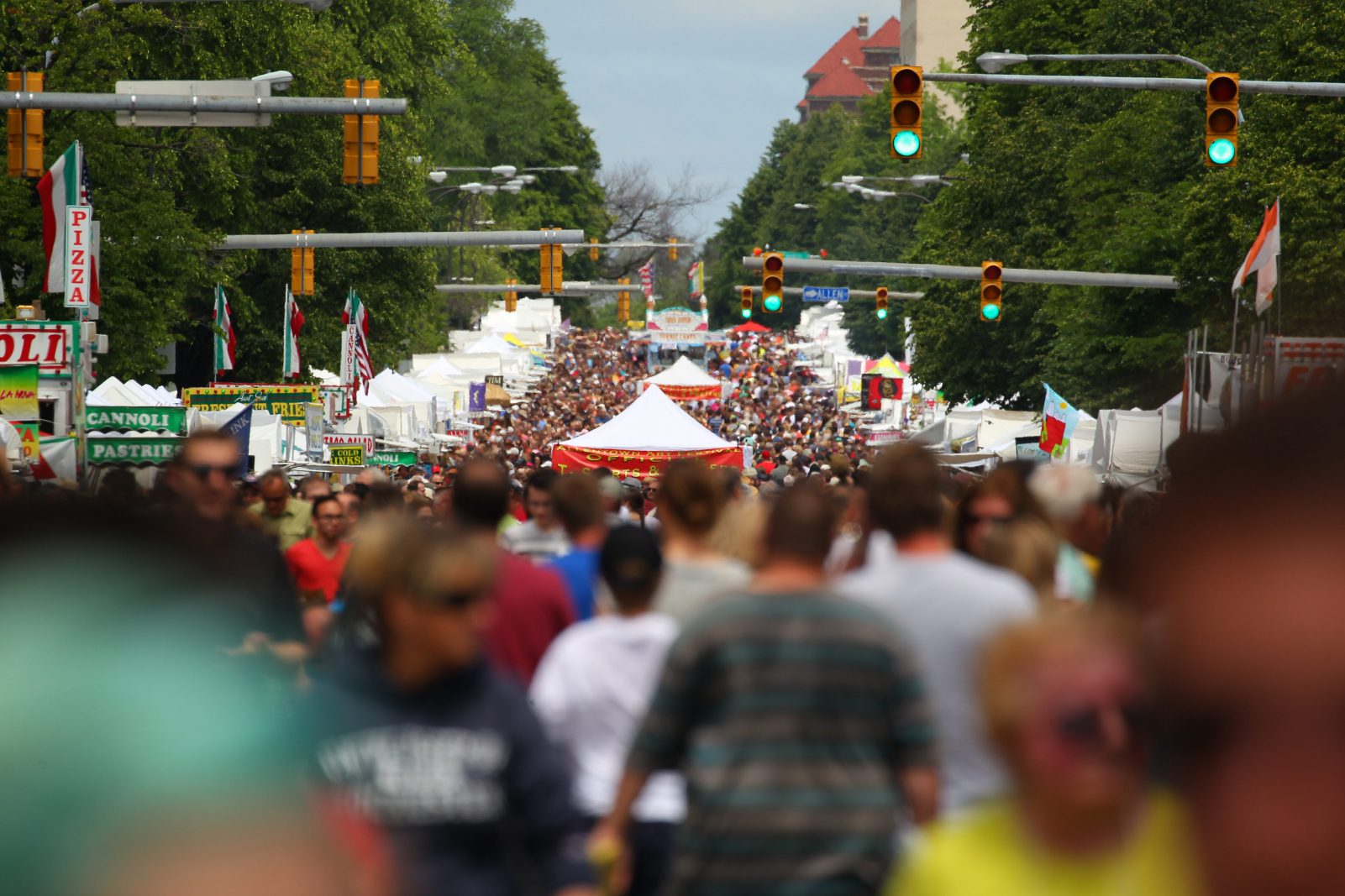 Crowds will fill Delaware Avenue again during the Allentown Art Festival. (Mark Mulville/Buffalo News)