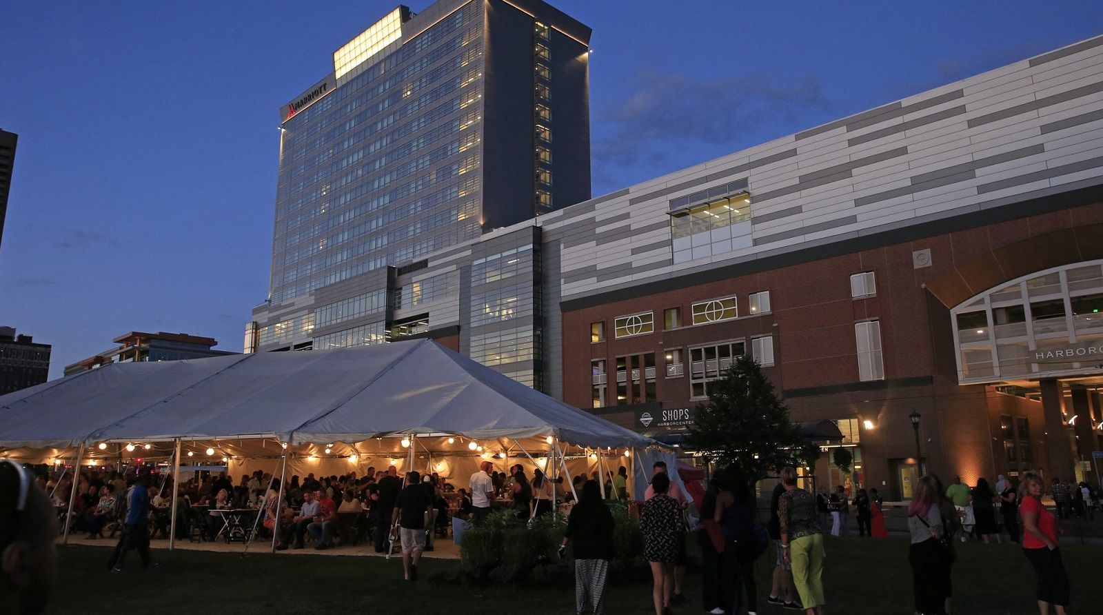 The VIP tent at Canalside on Thursday, Aug. 20, 2015, before the En Vogue show. Tonight, Michael Farrell will live-tweet the VIP experience.  (Harry Scull Jr./Buffalo News file photo)