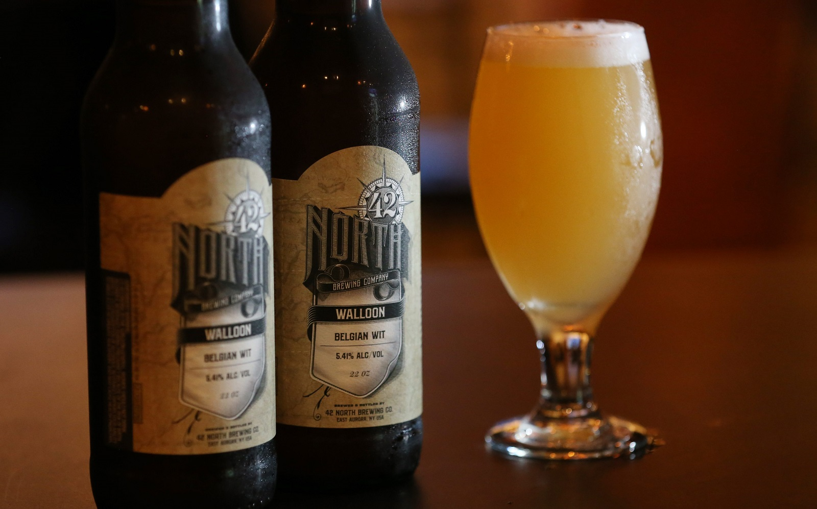 If you are stopping by 42 North Brewing Co., try its flagship beer Wallonia Wit. (Sharon Cantillon/News file photo)