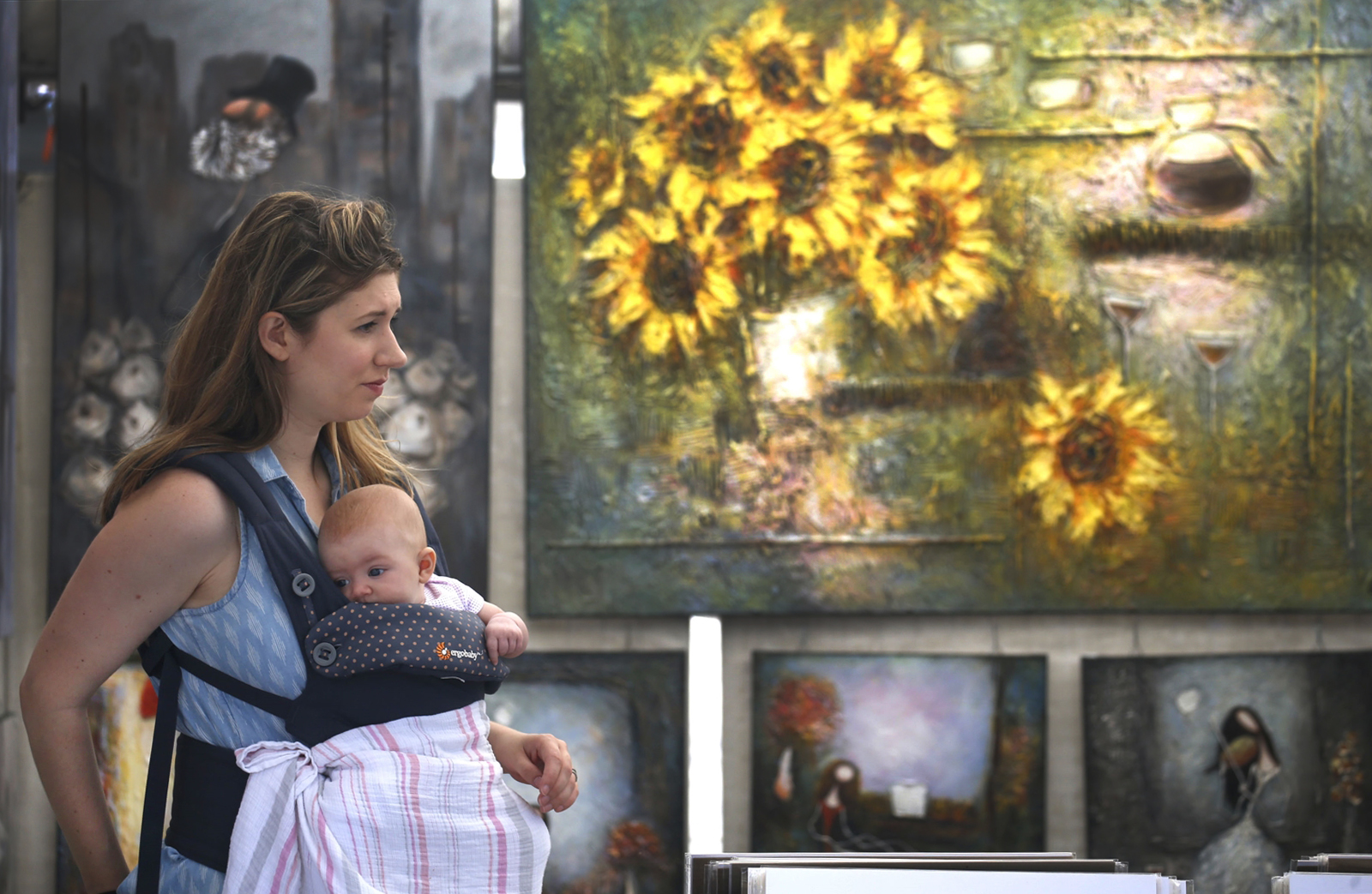 Art at the Allentown Art Festival.  A recent report stated that cultural organizations draw 896,109 tourists per year to the area. (Robert Kirkham/Buffalo News)