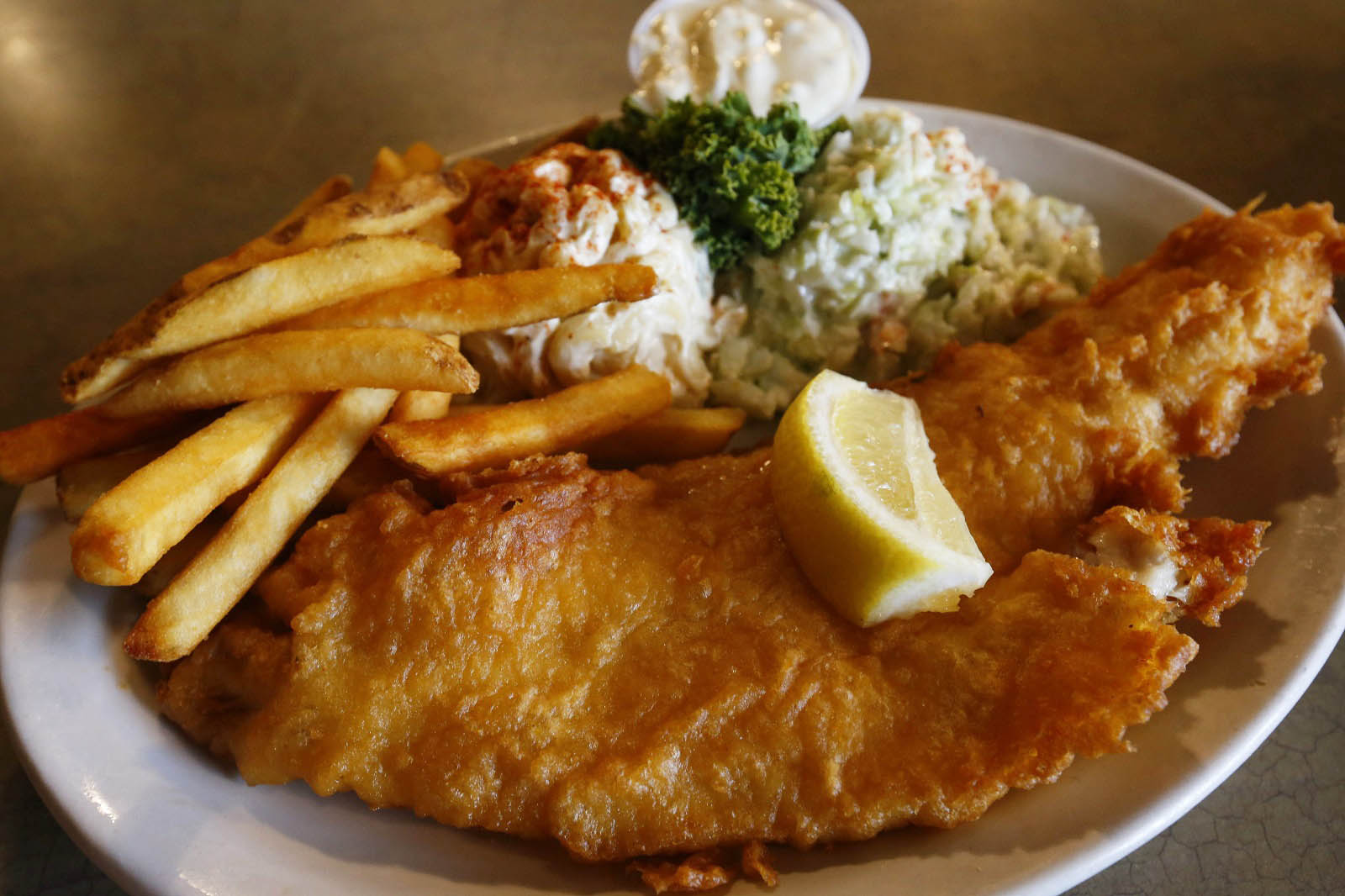 A fish fry at Mister Dee's in Cheektowaga. (Mark Mulville/Buffalo News)