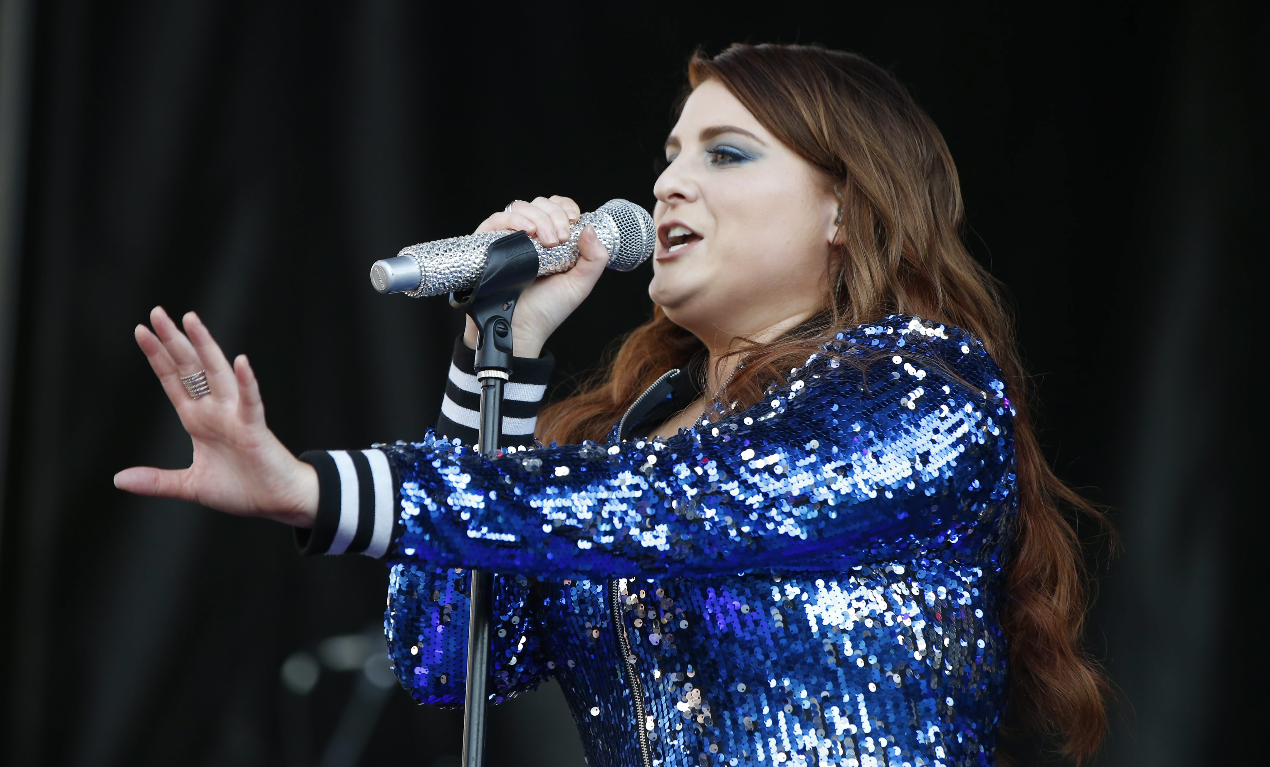 Meghan Trainor performs at Kiss the Summer Hello concert at Canalside. (Harry Scull Jr./Buffalo News)