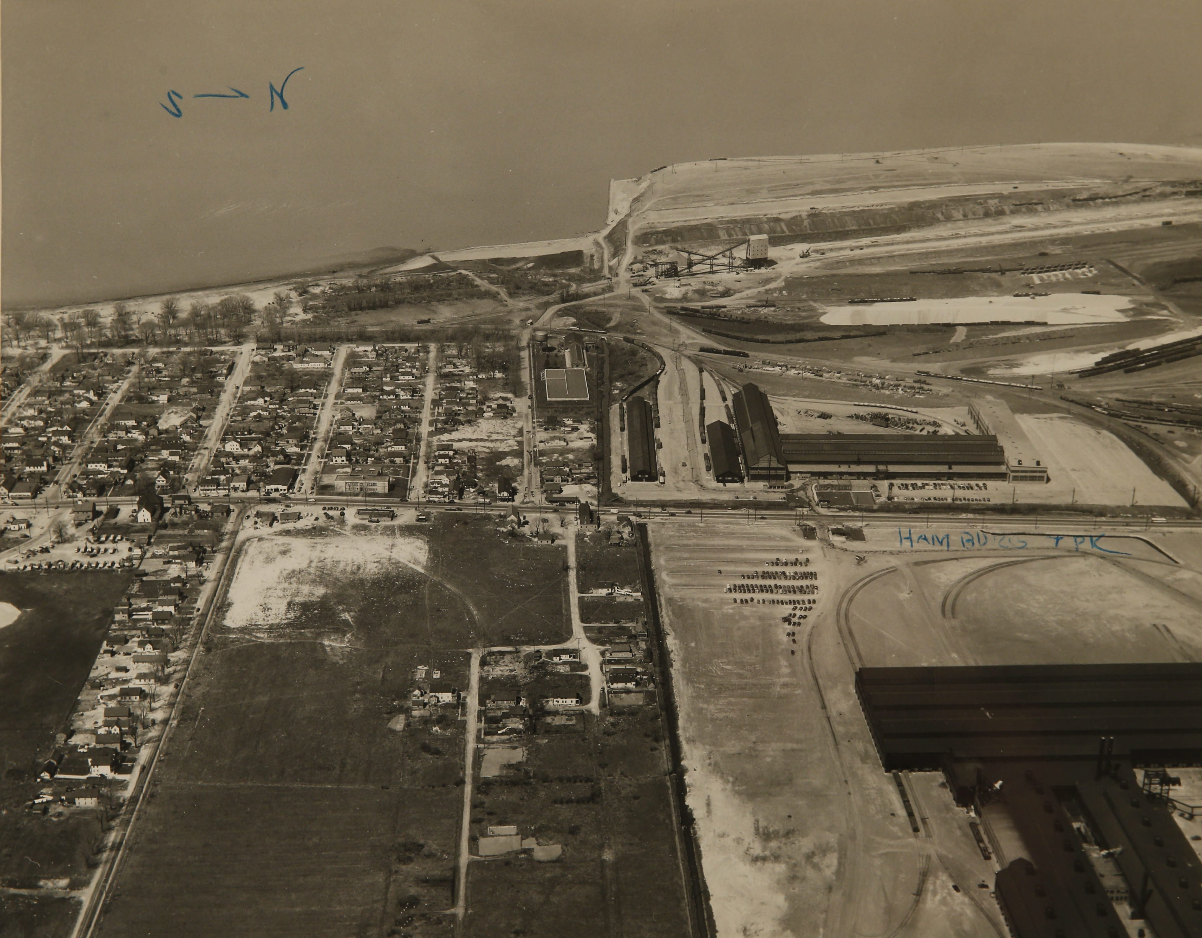 Aerial photo of Woodlawn Beach in 1950. (Photo courtesy of the Jack Edson Collection)