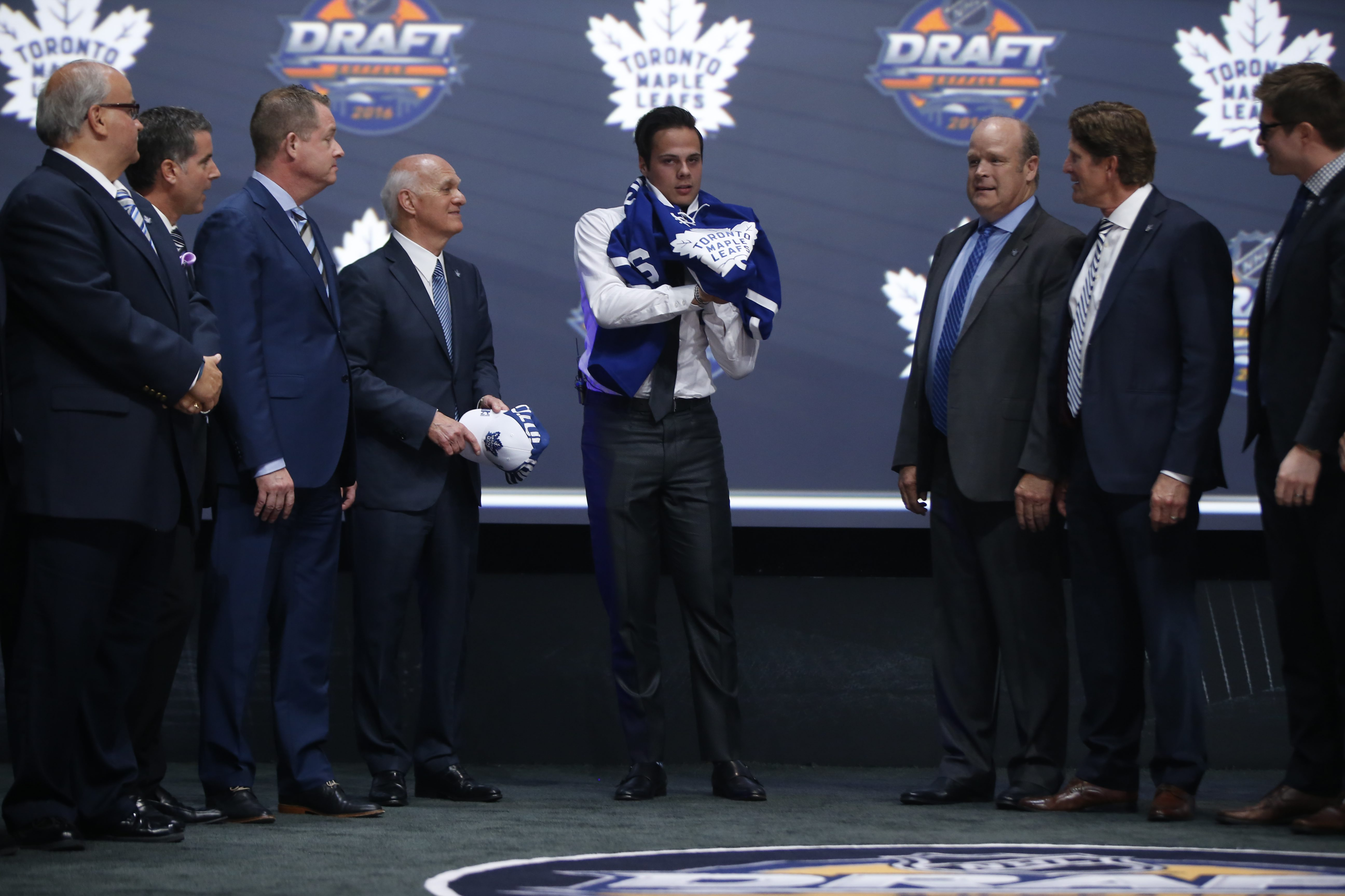 Auston Matthews is chosen as the 1st pick in the NHL draft at the First Niagara Center on Friday, June 24, 2016. (Harry Scull Jr./Buffalo News)
