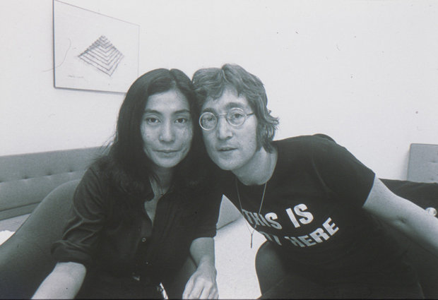 Yoko Ono And John Lennon At The Everson Museum Of Art Syracuse 1971