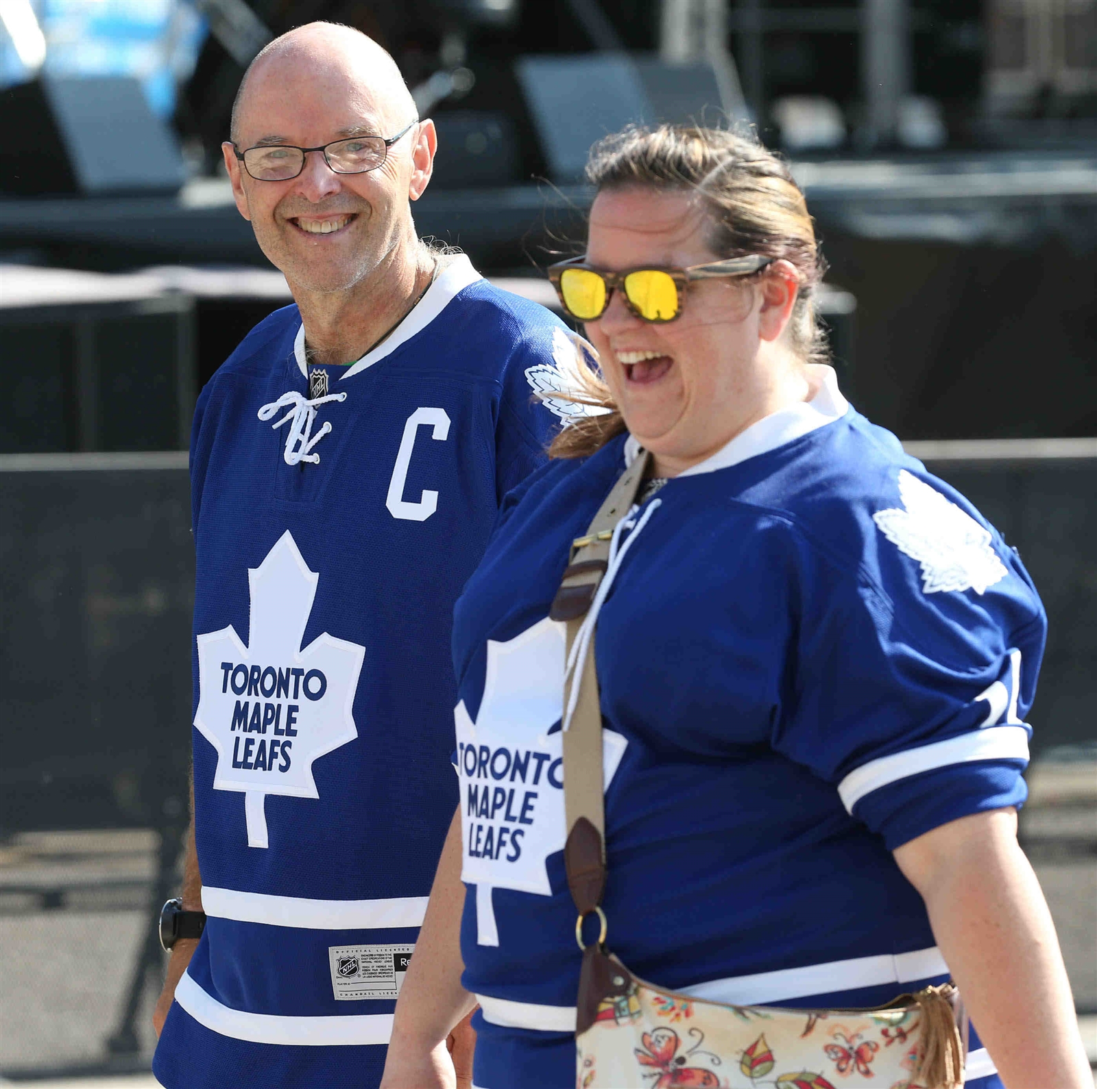 Toronto Maple Leafs fans were a part of the Fan Fest as well as the NHL Draft itself. (James P. McCoy/Buffalo News)