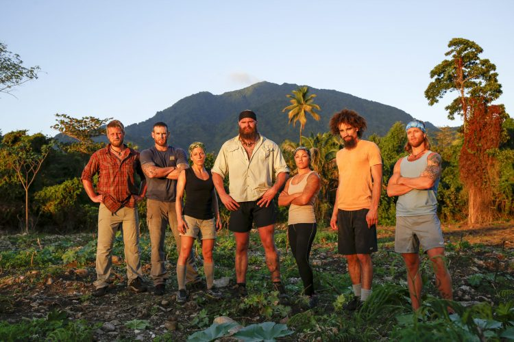 "Jeremy Guarino, second from right, is among the contestants on Discovery Channel's ""American Tarzan."""
