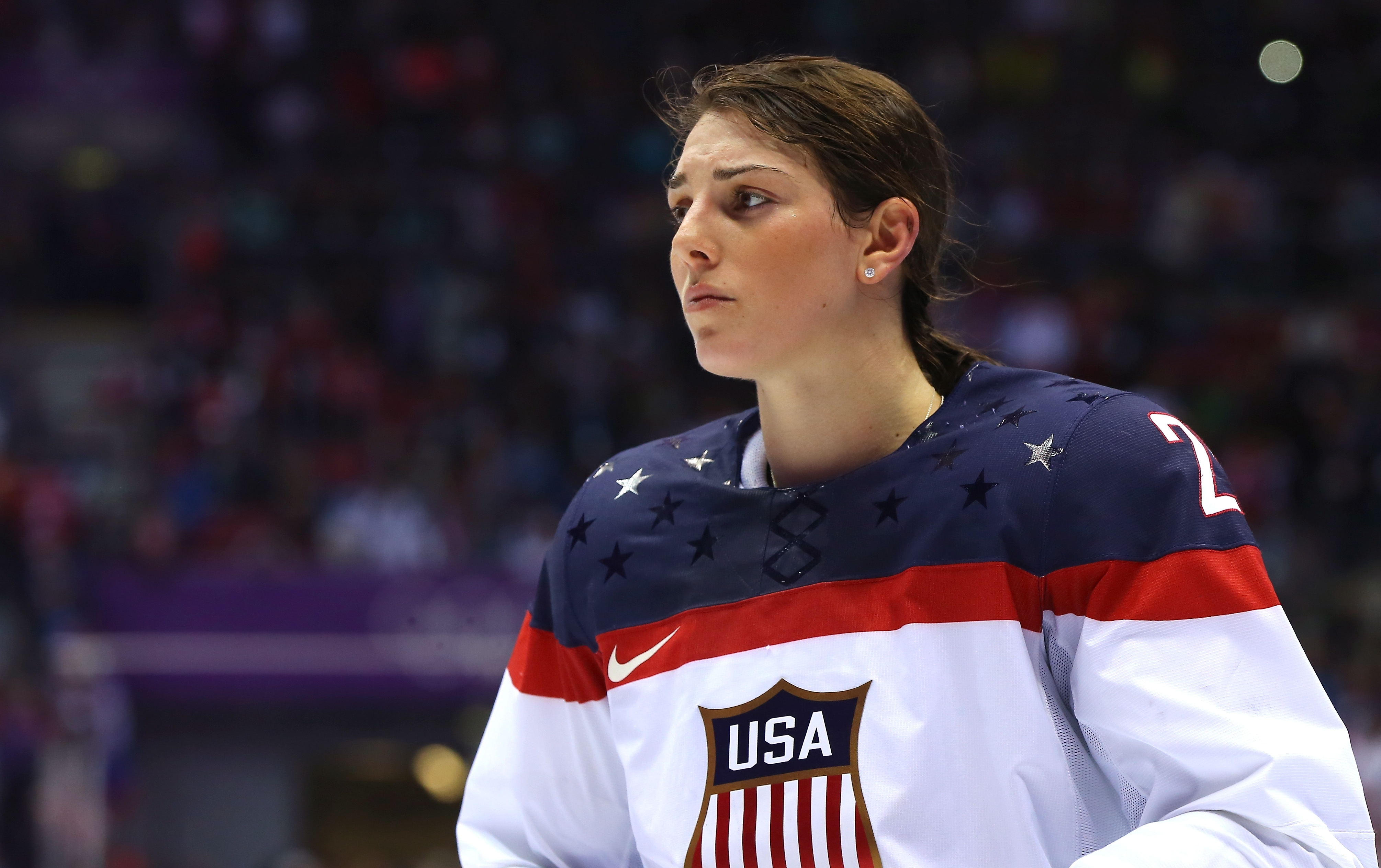 Olympian Lee Stecklein was the Buffalo Beauts' first-round pick in Saturday's NWHL draft. (Getty Images)