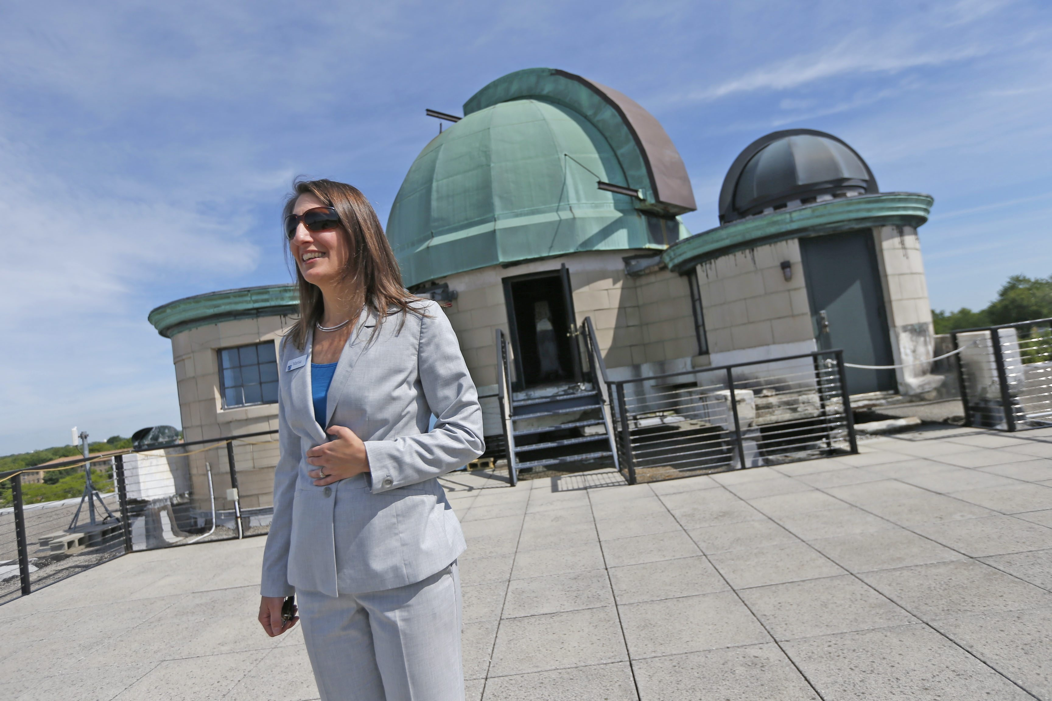 """""""We talk about the crowning jewel of this building's renovation,"""" new Buffalo Museum of Science president and CEO, Marisa Wigglesworth said. """"This is it in more ways than one."""" (Robert Kirkham/Buffalo News)"""