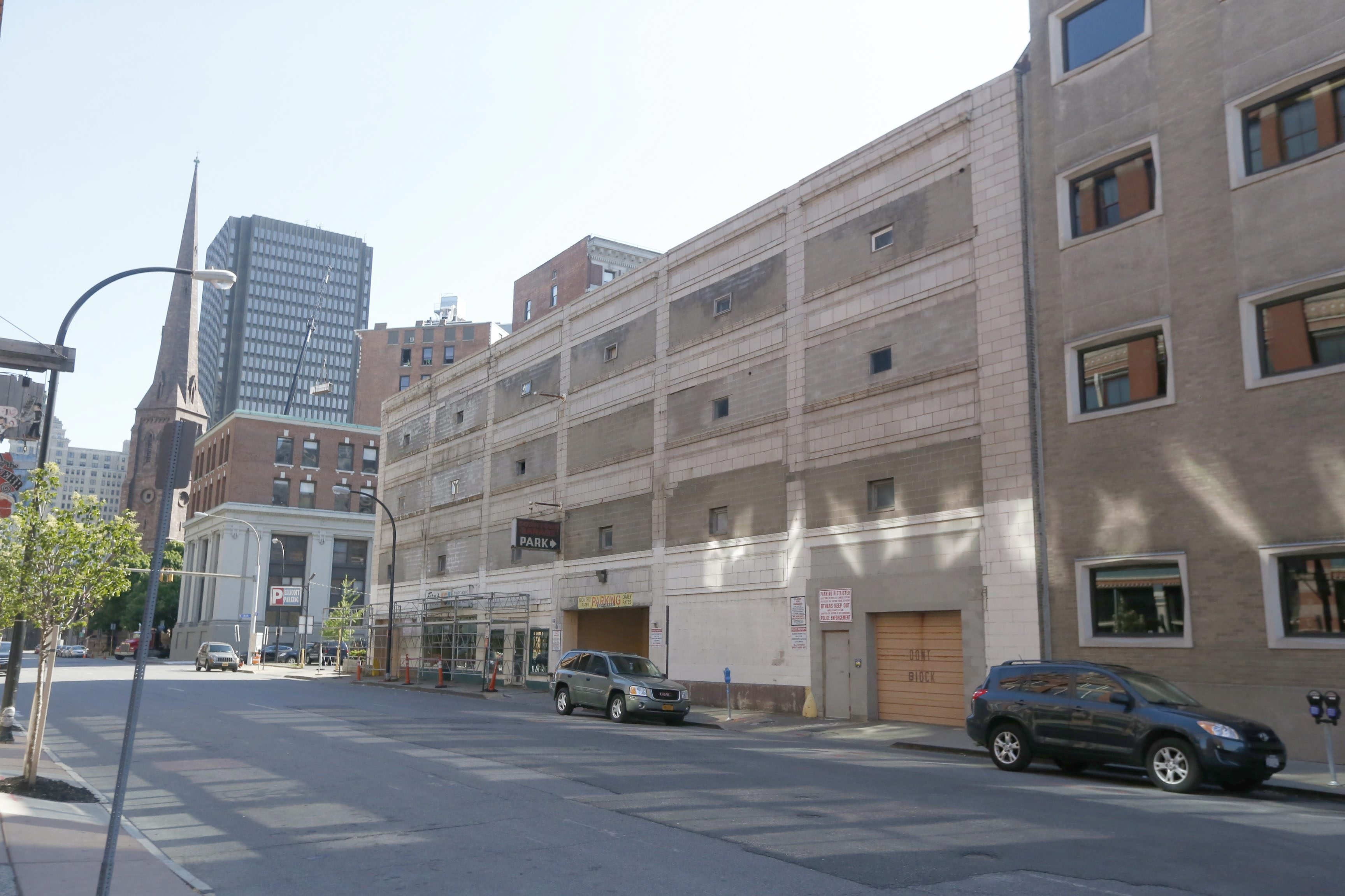 The 278-space parking ramp at 93 Pearl St. will provide parking for tenants of the Glenny and Marin apartment buildings.