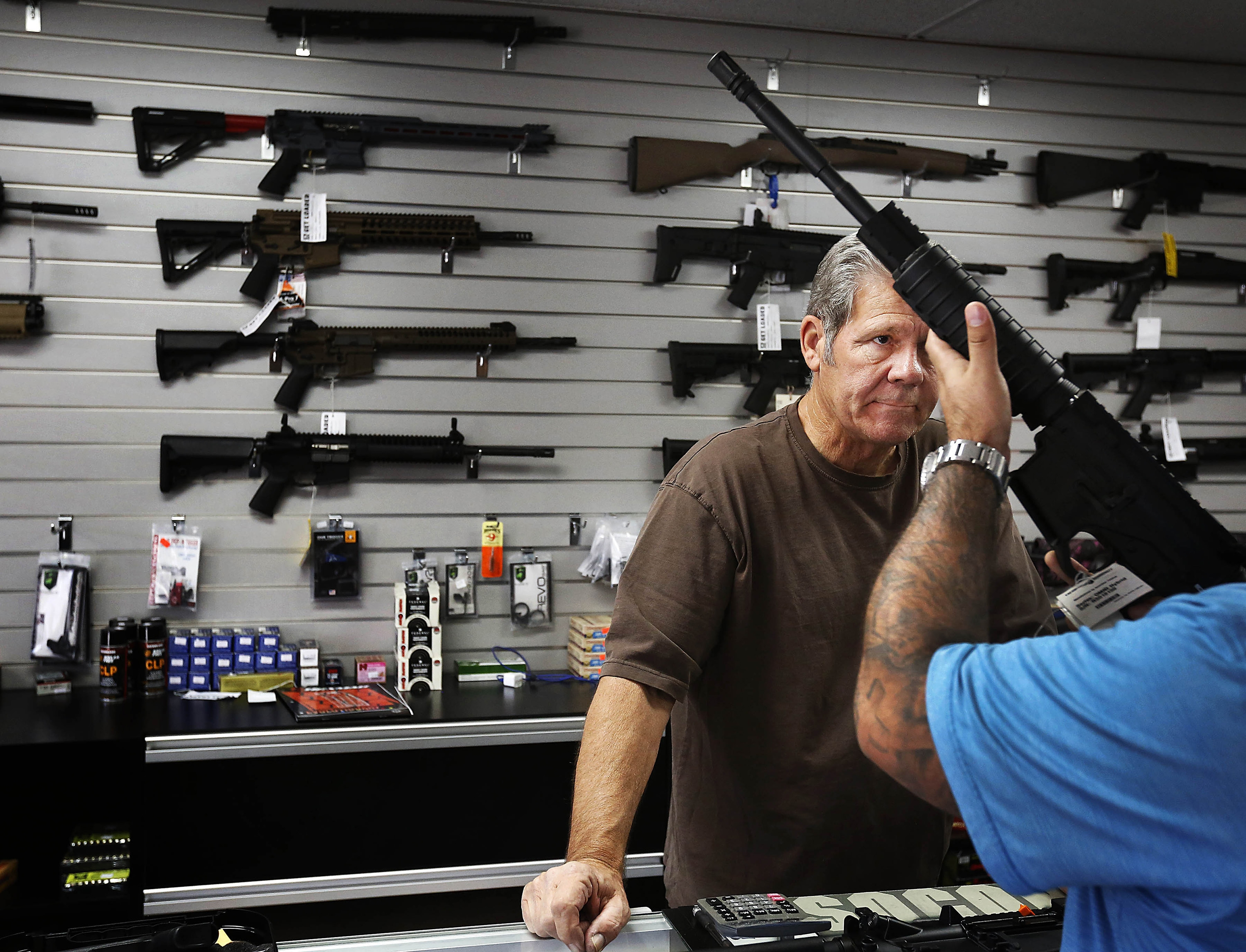 The Supreme Court declined to review a lower-court ruling that upheld the constitutionality of the assault weapons ban included in New York's SAFE Act, which bars the sale of a series of semi-automatic weapons based on their physical characteristics. (Tribune News Service)
