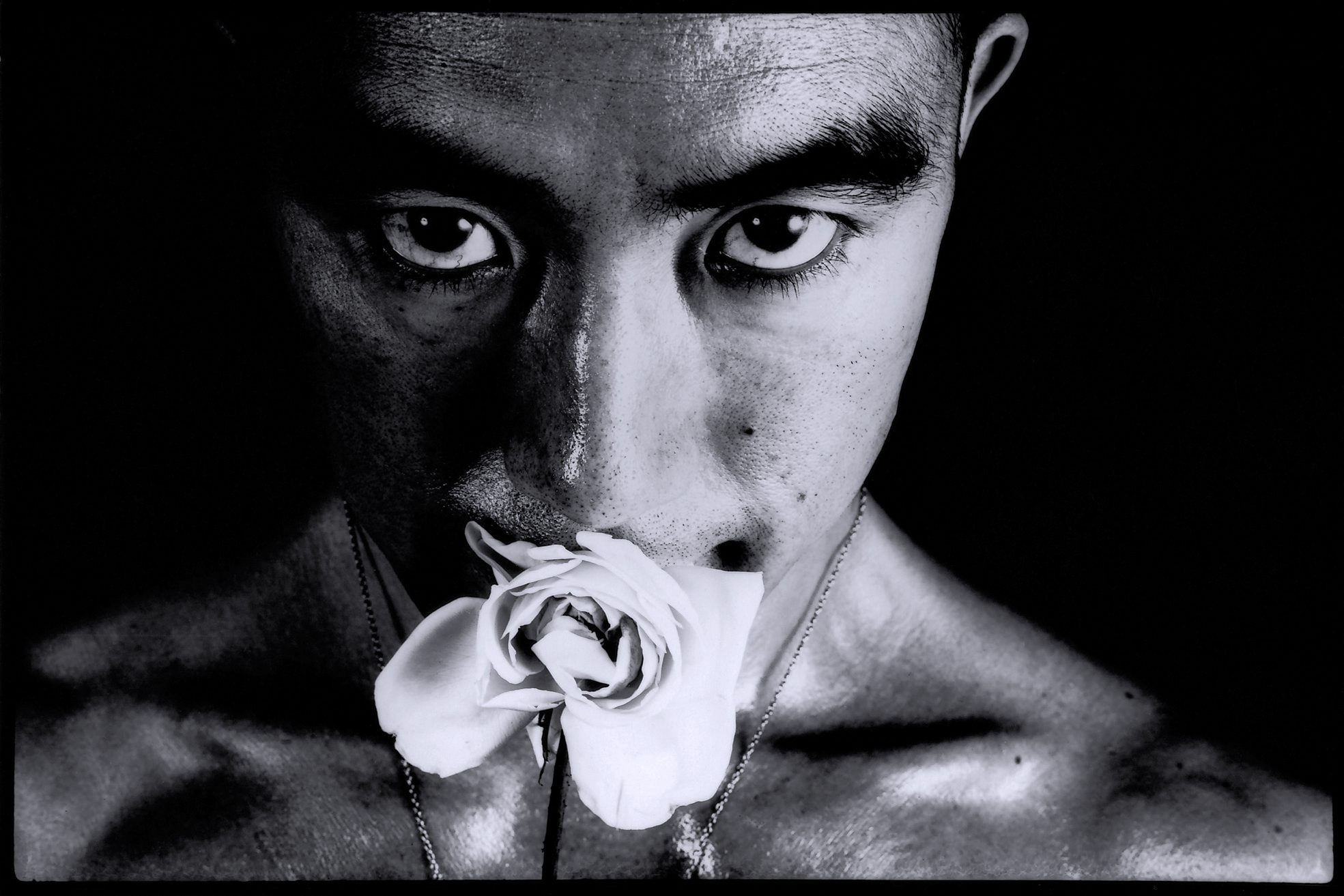 """Ordeal by Roses #32,"" a 1961-1962 photograph by Japanese artist Eikoh Hosoe, is part of CEPA Gallery's exhibition ""Revisitations to a Vacuum's Nest."""
