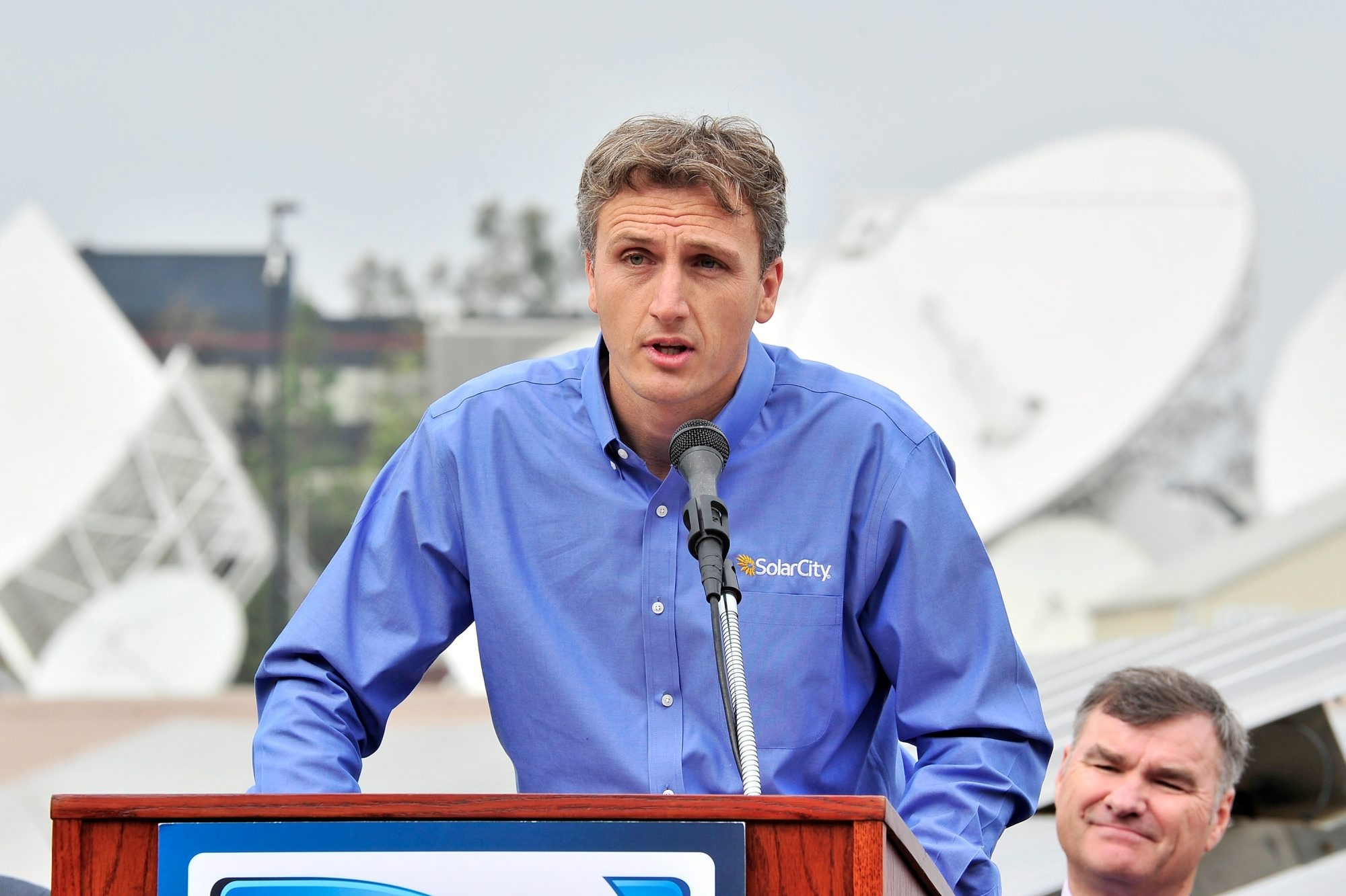Solar City CEO Lyndon Rive, shown in a file photo, has ordered SolarCity employees not to discuss Tesla bid for company. (Getty Images)