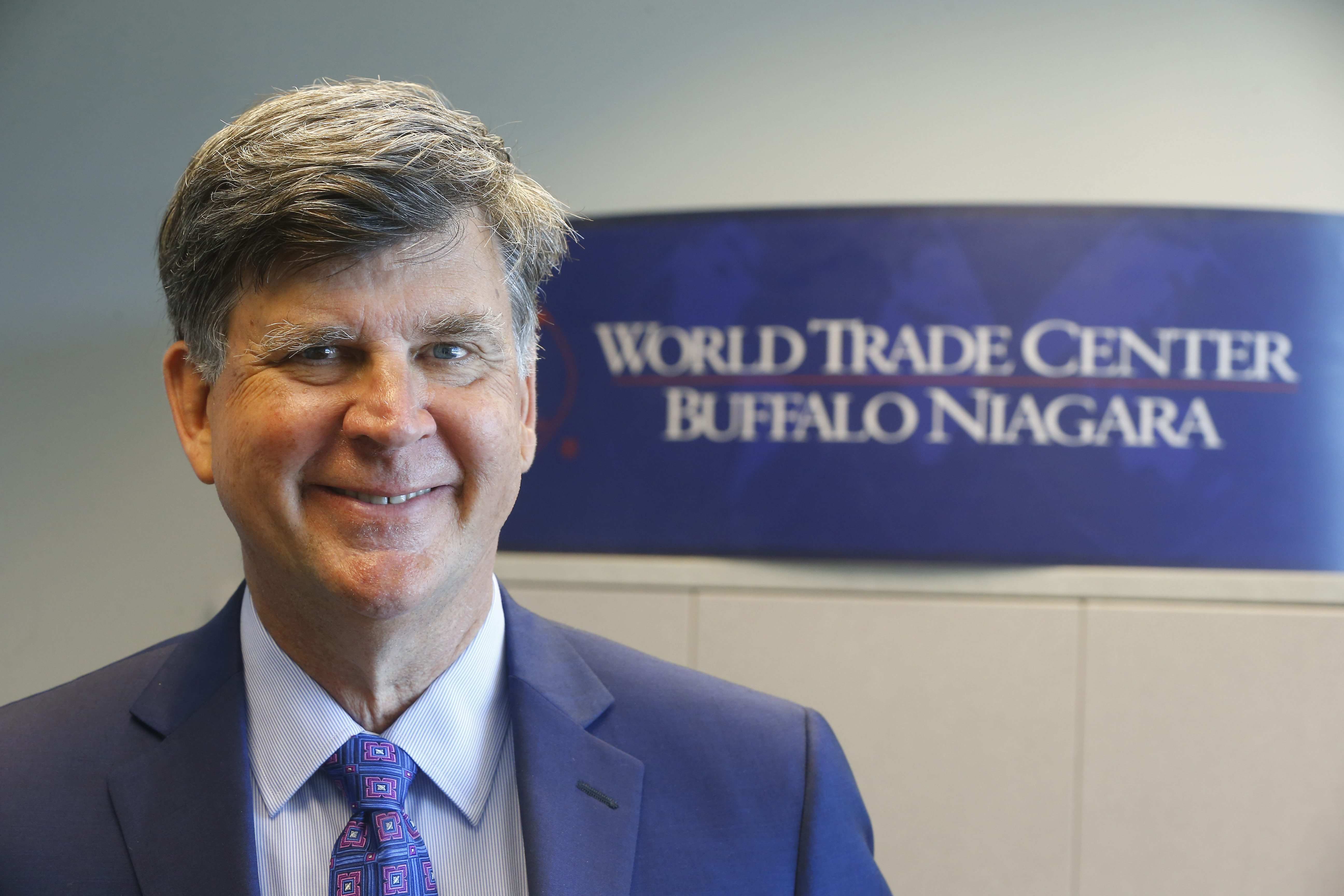 "William Lane, a former lobbyist for industrial giant Caterpillar Inc., spoke at a World Trade Center Buffalo Niagara event in Buffalo on Wednesday. The Virginia resident says it's time for American companies to stand up for trade deals.  ""To me, it's not just trade. It's about whether the U.S., and some of their allies, are going to turn inward or not.""   William Lane, former lobbyist for Caterpillar Inc."