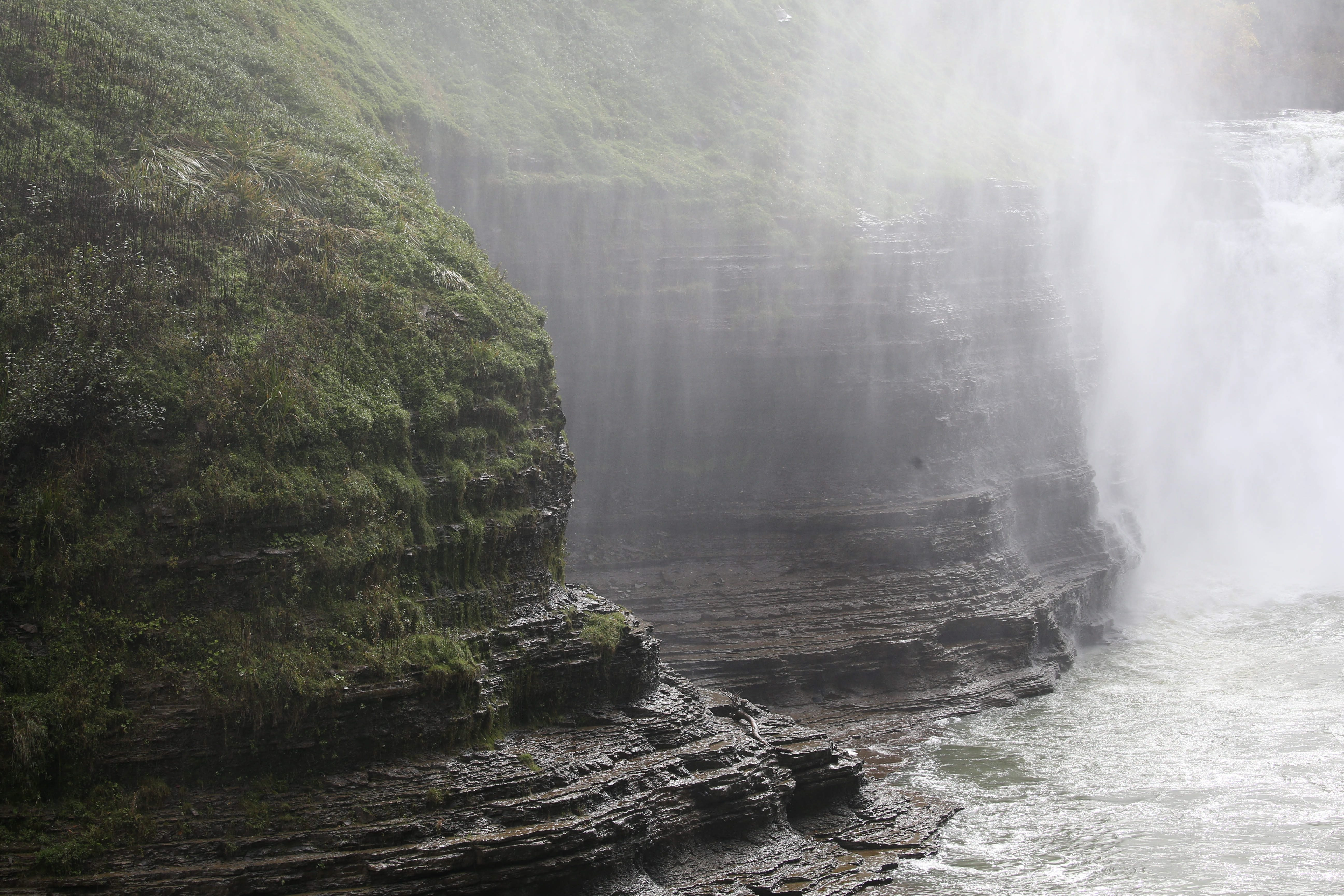 Letchworth State Park, sometimes called the Grand Canyon of the East, draws a multitude of visitors annually. This is at the Upper Falls. (Sharon Cantillon/Buffalo News)