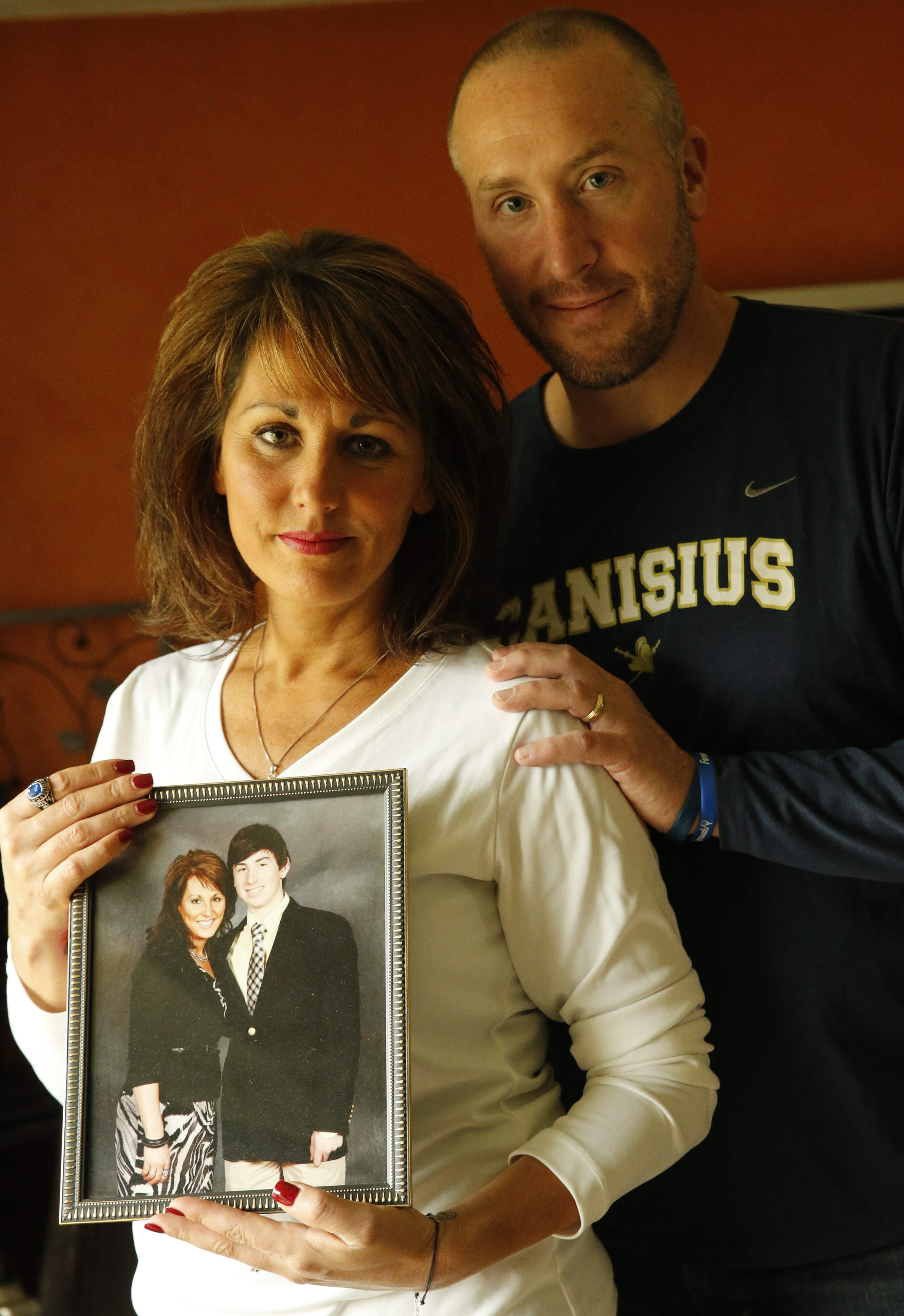 A News file photo of Kim and TJ Burch, parents of Nolan Burch, the Canisius High School graduate who died in a tragic hazing incident at West Virginia University in 2014. (Buffalo News file photo)