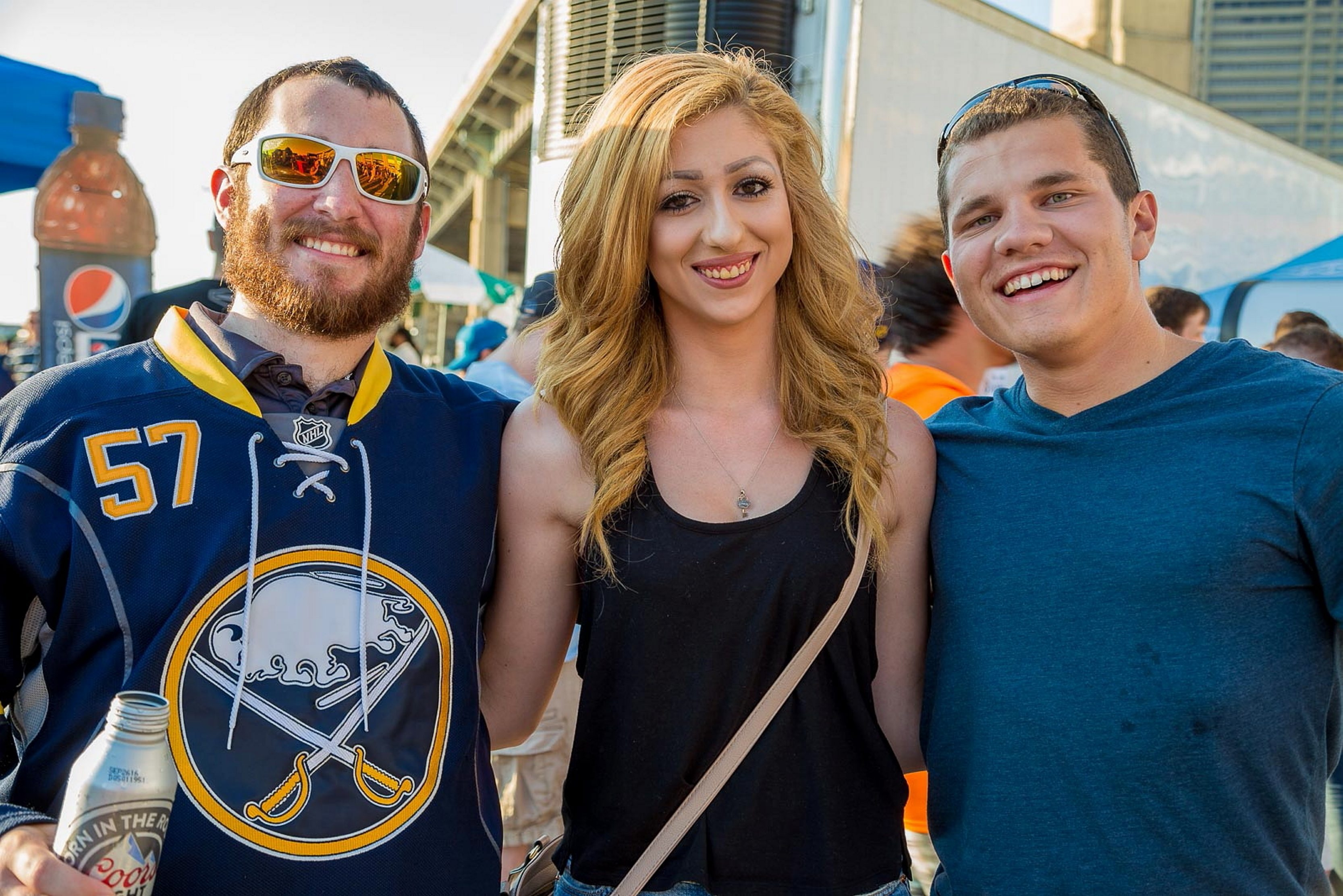 Fans at the NHL Draft party at Canalside. (Don Nieman/Special to The News)
