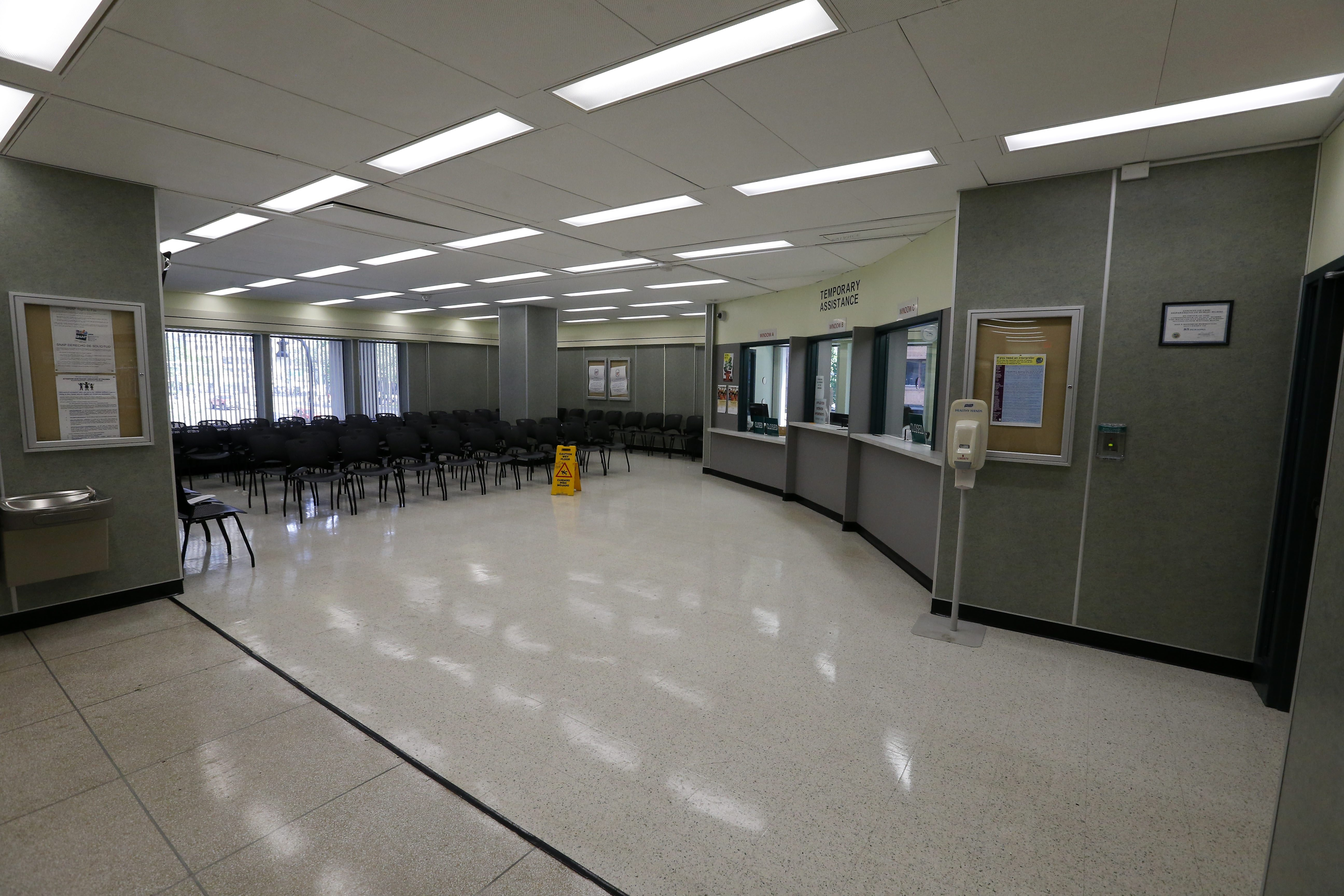 The recently renovated 2nd floor operations for Erie County Social Services in County Hall in Buffalo Thursday, May 26, 2016.    (Mark Mulville/Buffalo News)