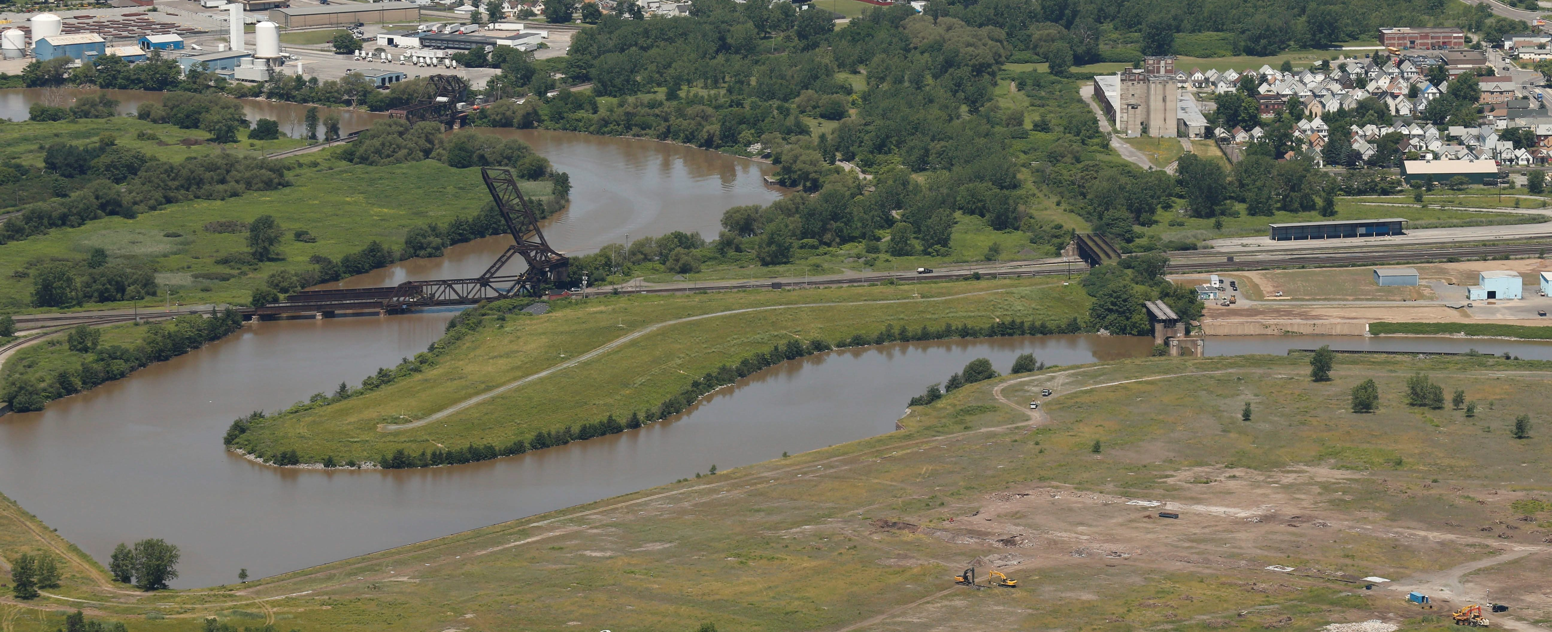 The Buffalo River, as seen from above. (Derek Gee/News file photo)
