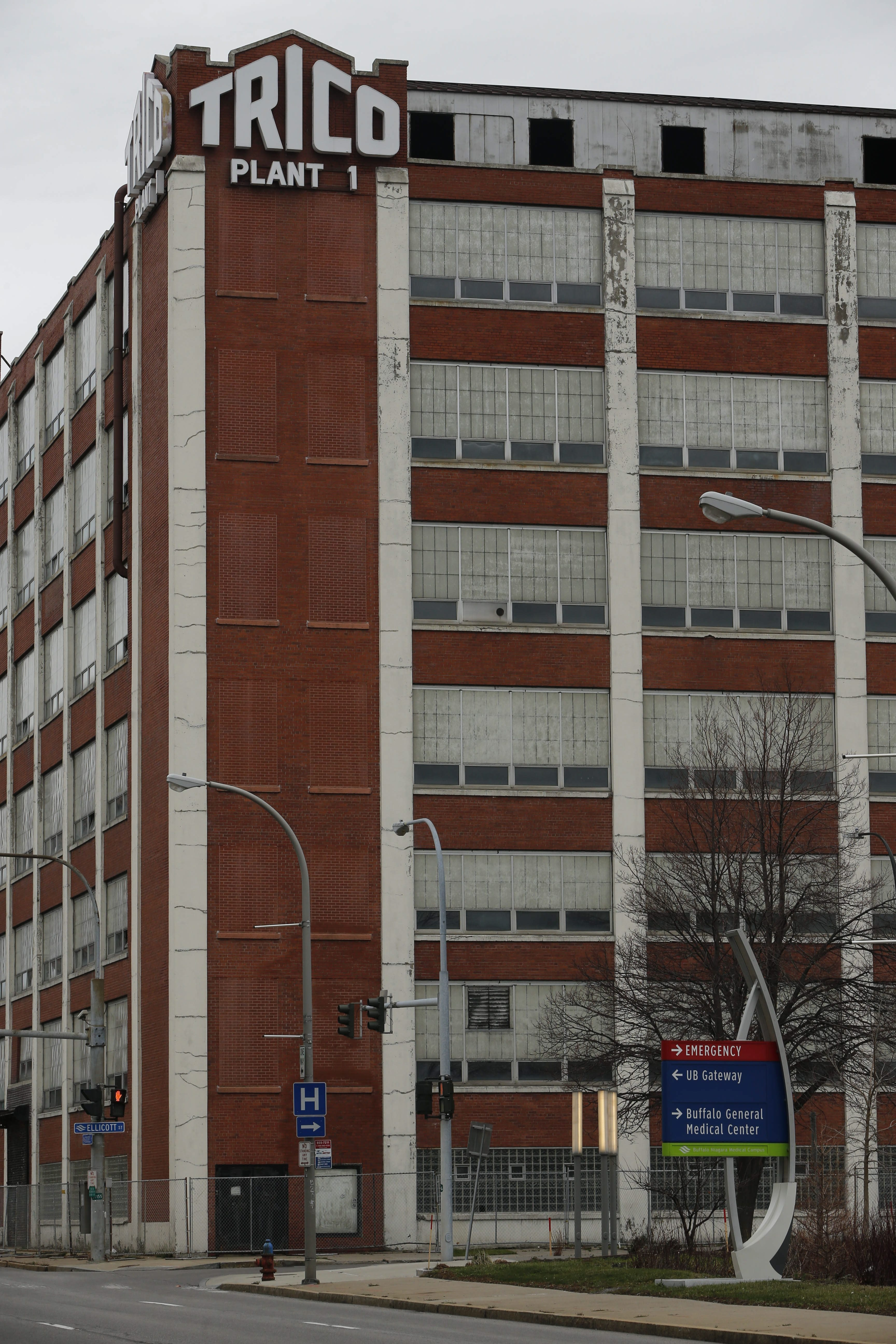 Developer Krog Corp. is seeking tax breaks from the Erie County Industrial Development Agency for its project to redevelop the former Trico Products Corp. building on Washington Street. (Derek Gee/Buffalo News)