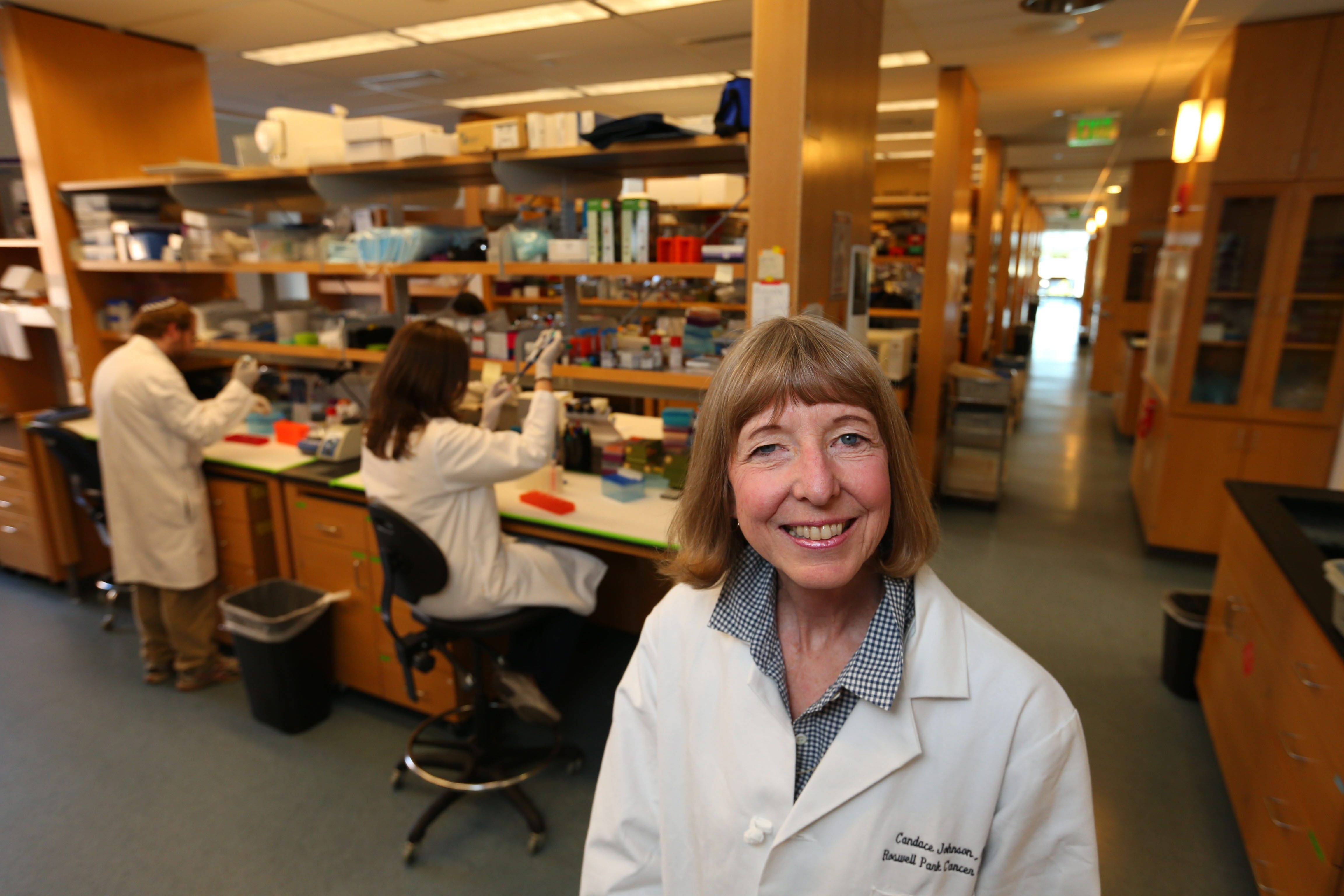 """We're at an exciting moment in the field with technology and our understanding of the disease,"" said Candace S. Johnson, CEO of Roswell Park Cancer Institute, shown in a file photo in a lab area at the cancer institute.  (Mark Mulville/Buffalo News)"