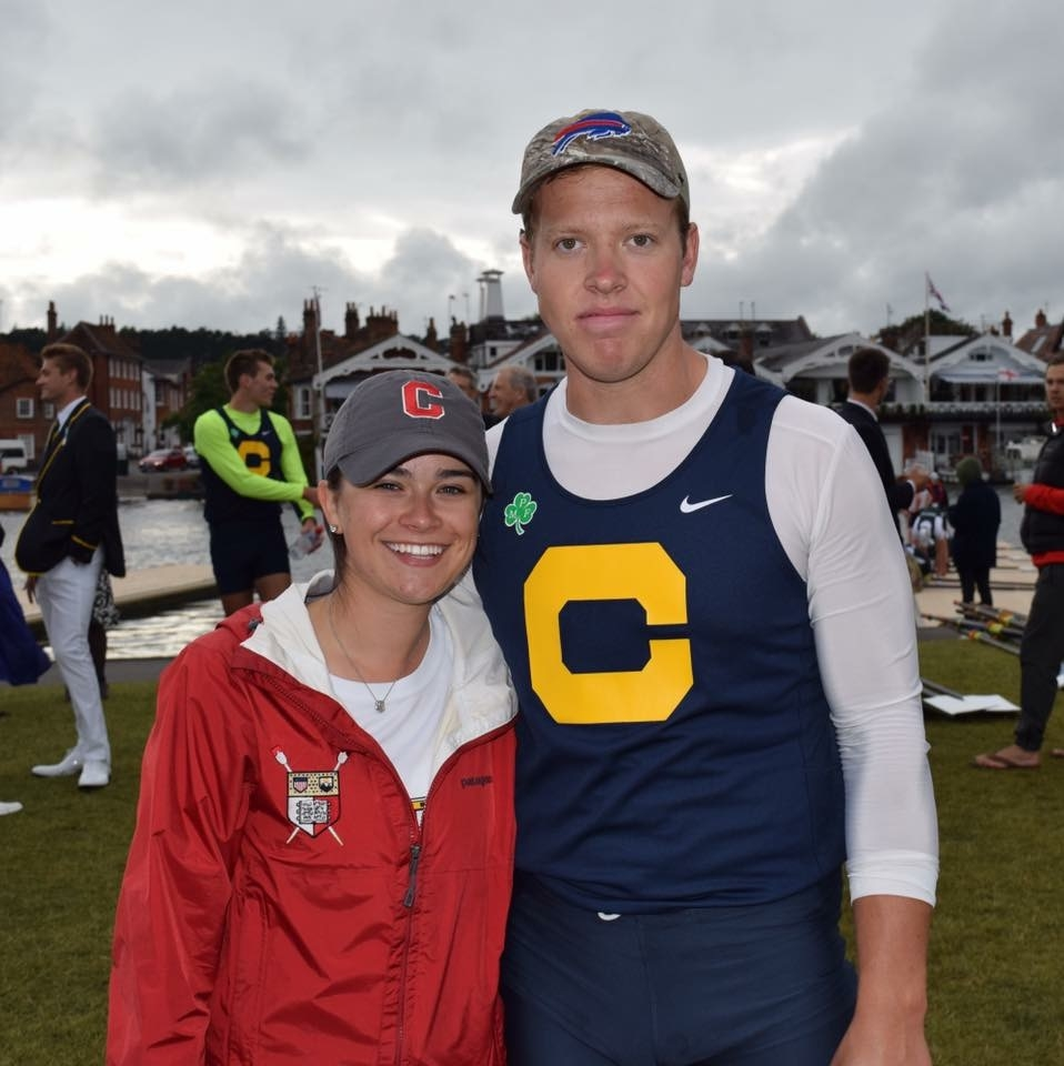 Nardin graduate Rachel Kelly, left, and Canisius grad Daniel Jordan helped row their crews to Wednesday victories at the Henley Royal Regatta in London.