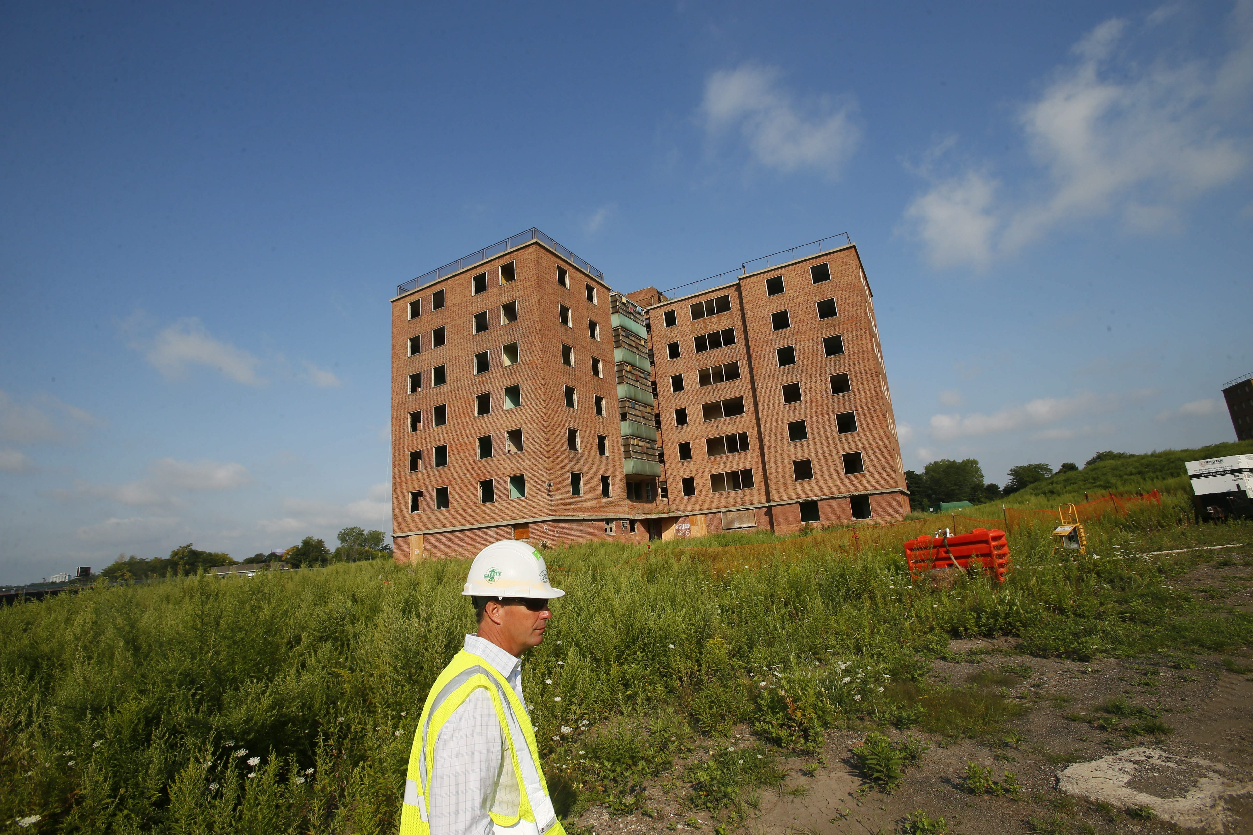 The former Kensington Heights housing project, pictured here in 2013. (Derek Gee/Buffalo News)