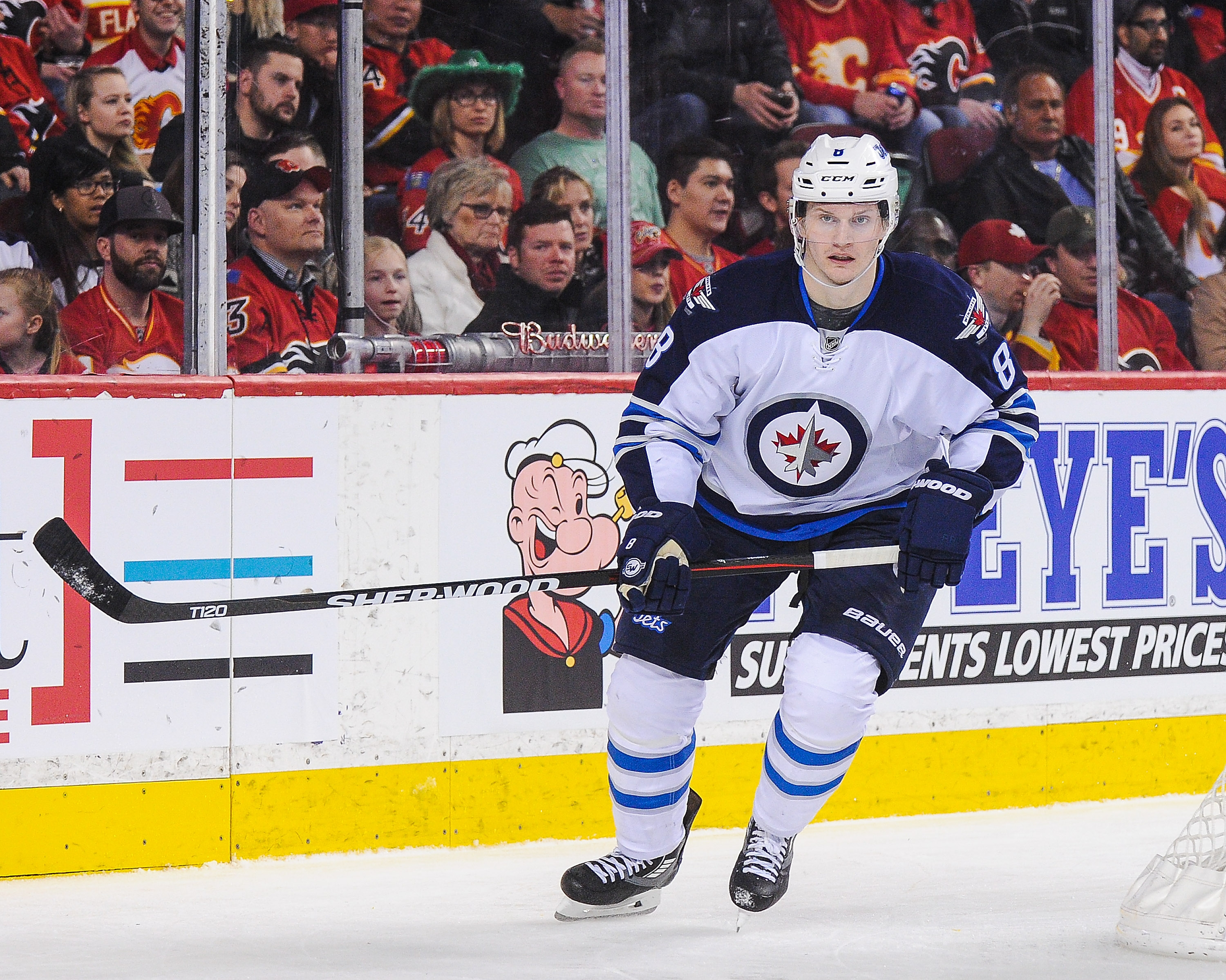 Reports have the Boston Bruins interested in signing Winnipeg Jets defenseman Jacob Trouba, a restricted free agent,  to an offer sheet. (Getty Images)