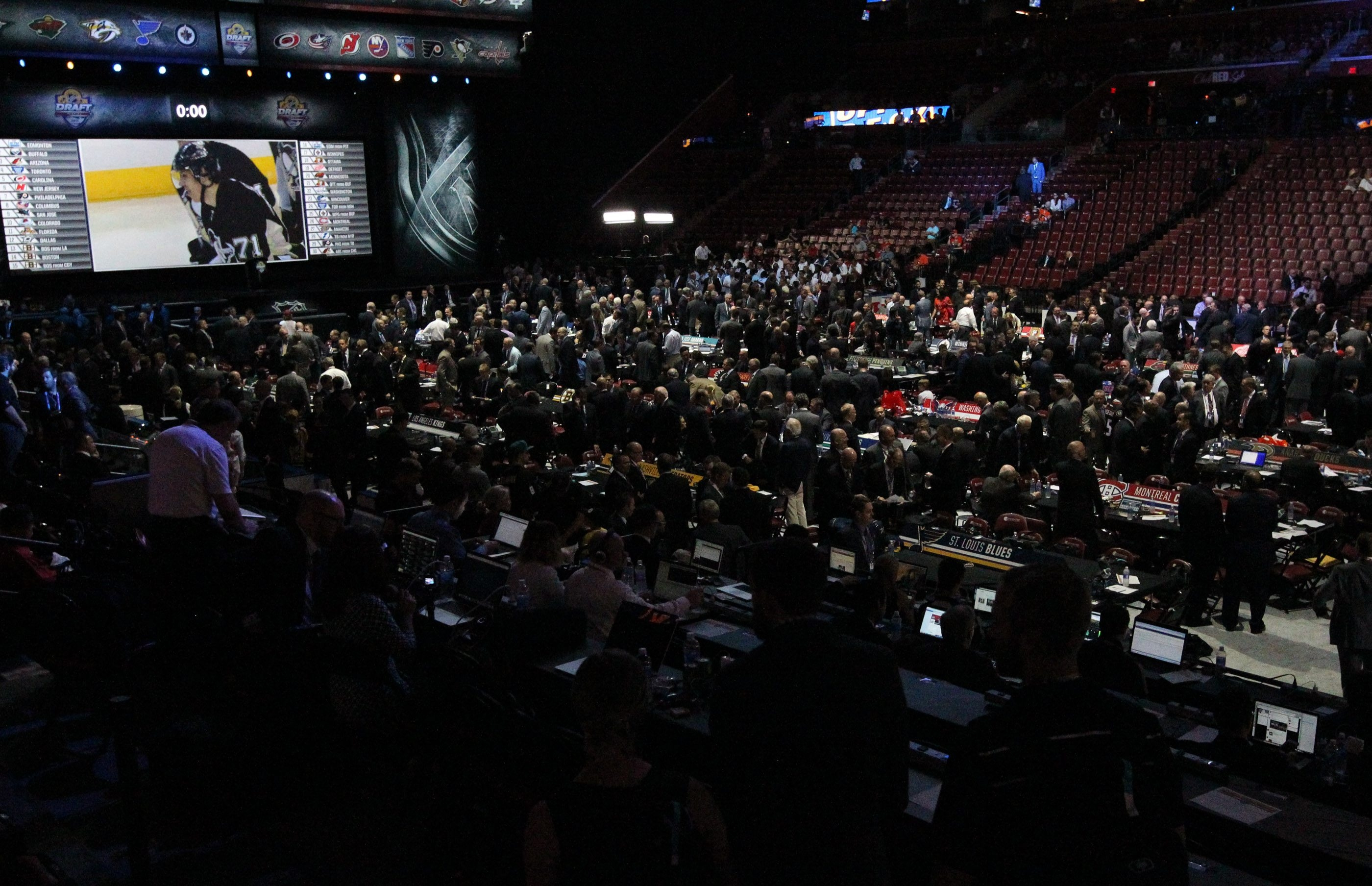 The scene was set for last year's NHL Draft at the BB&T Center in Florida.