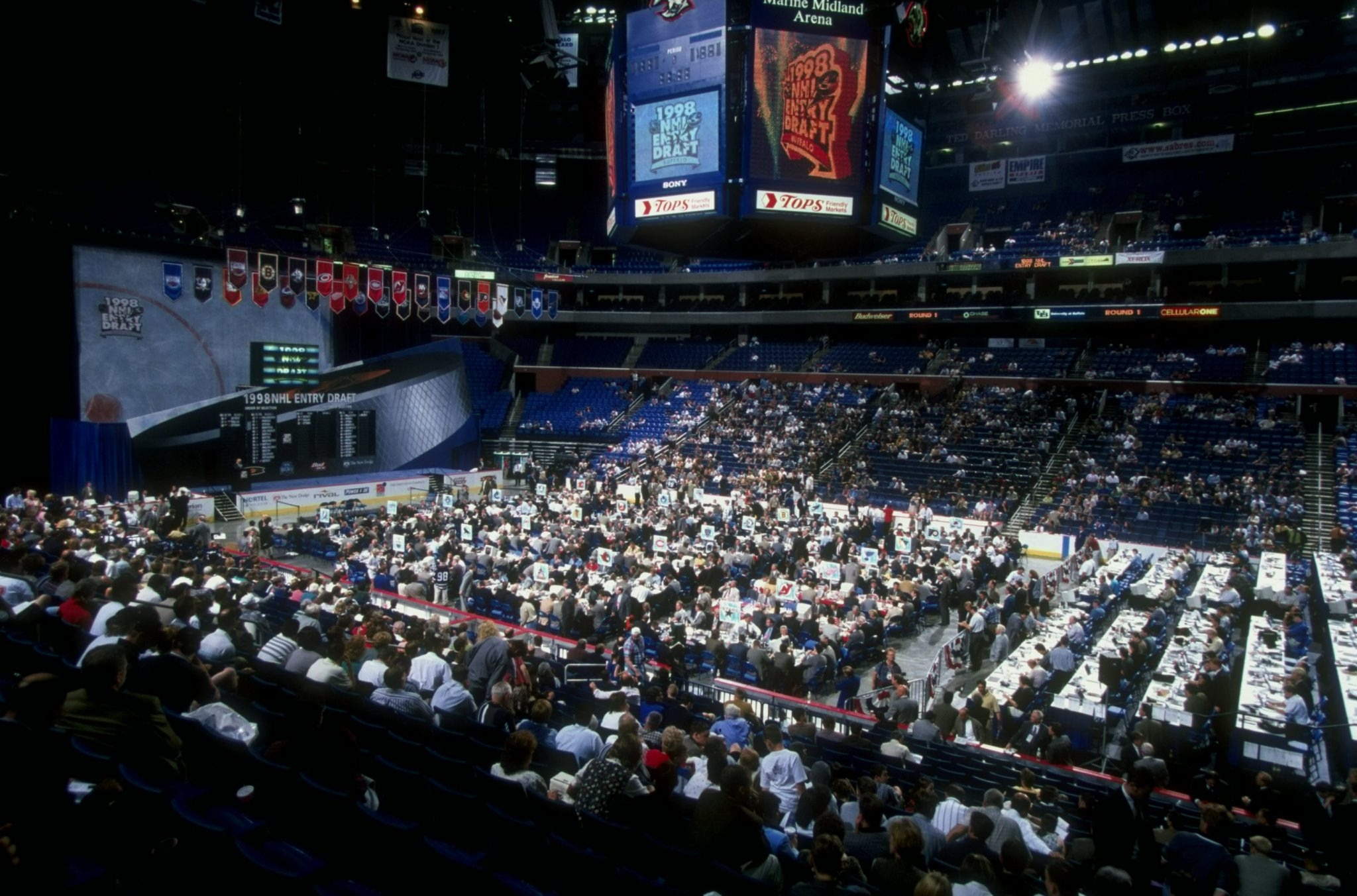 There was no lack of spectator seating  when the 1998 NHL Draft was held at Marine Midland Arena. This time around, at what's now First Niagara Center, it's a sellout.